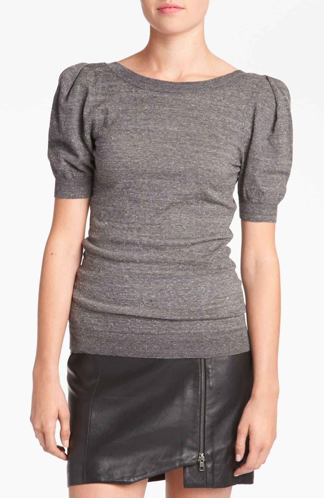 TILDON Short Puff Sleeve Top, Main, color, 030