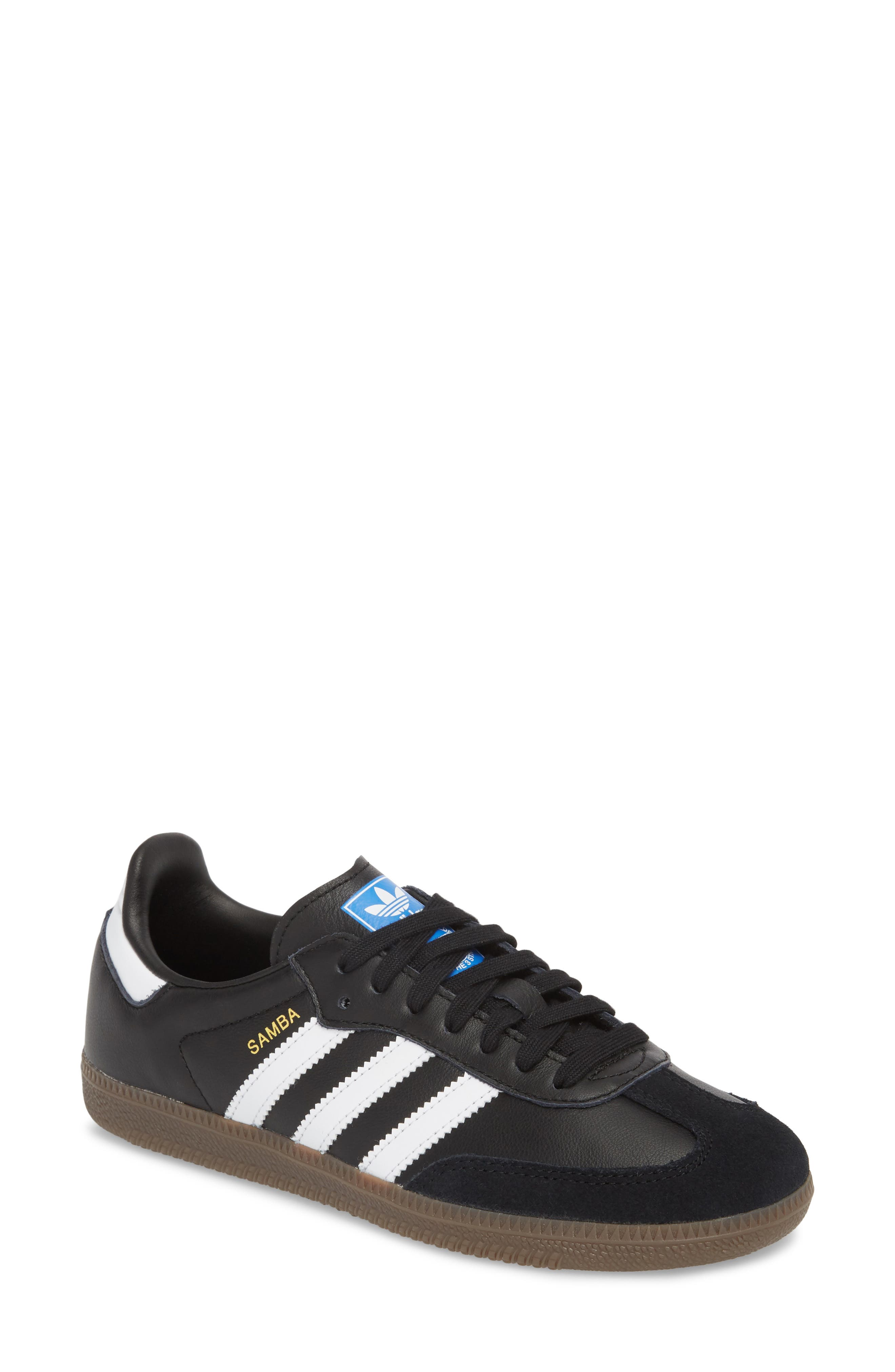'Samba' Sneaker,                             Main thumbnail 1, color,                             BLACK/ WHITE/ GUM5
