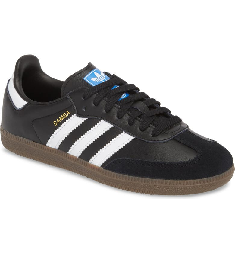 online retailer 7df74 72308 ADIDAS Samba Sneaker, Main, color, BLACK WHITE GUM5