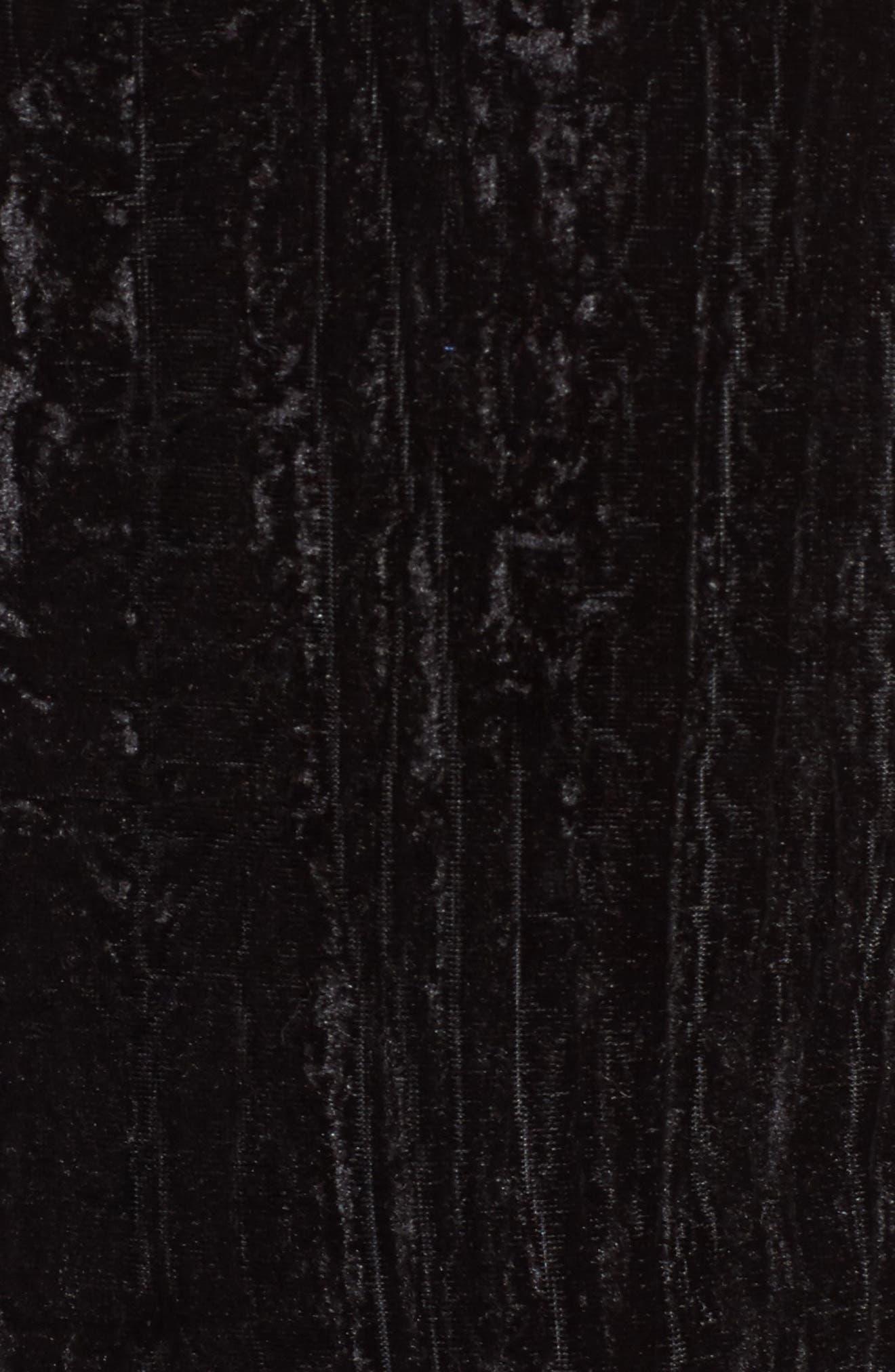 Smocked Velvet Camisole,                             Alternate thumbnail 5, color,                             001