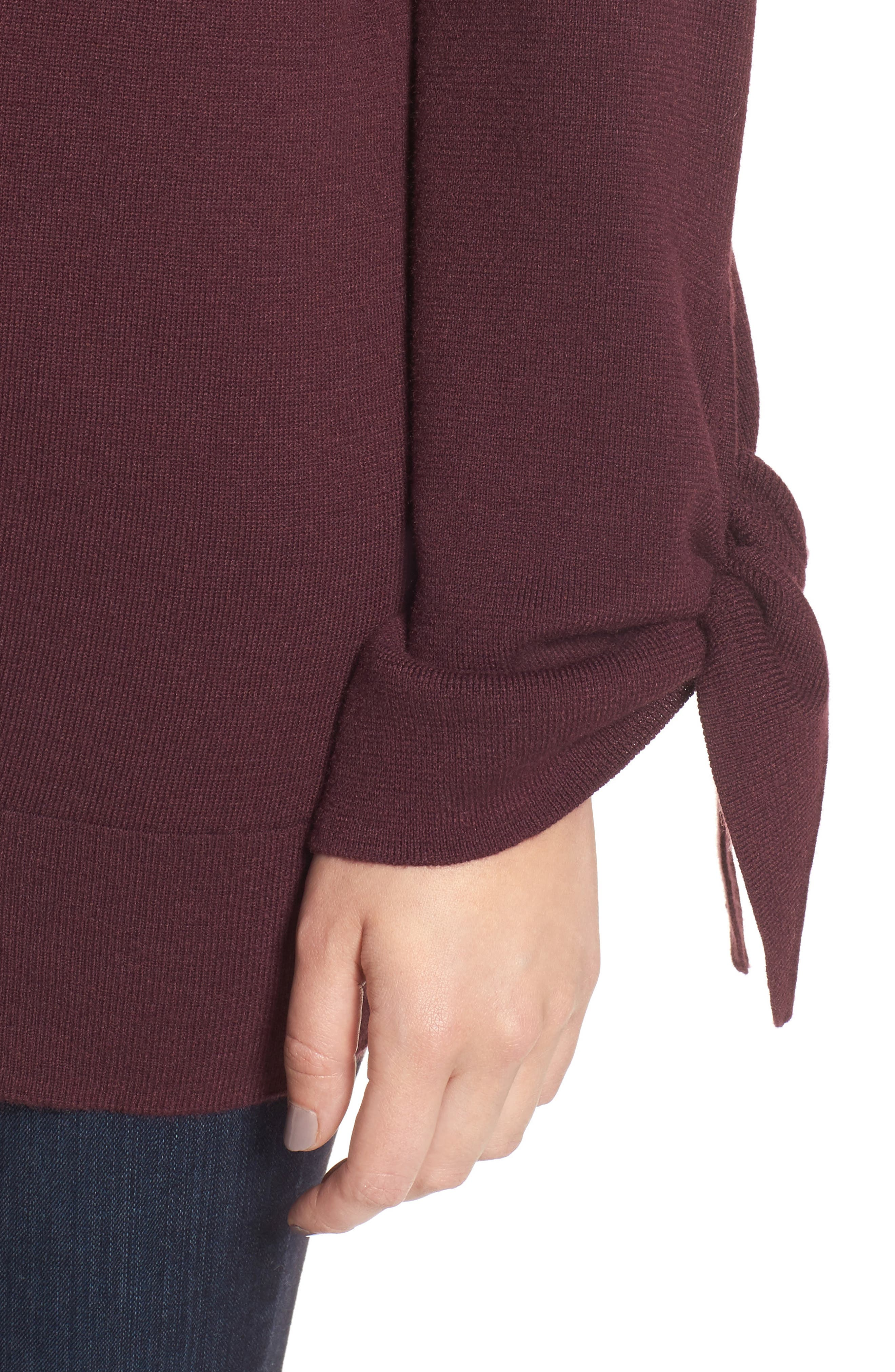 Tie Sleeve Sweater,                             Alternate thumbnail 16, color,