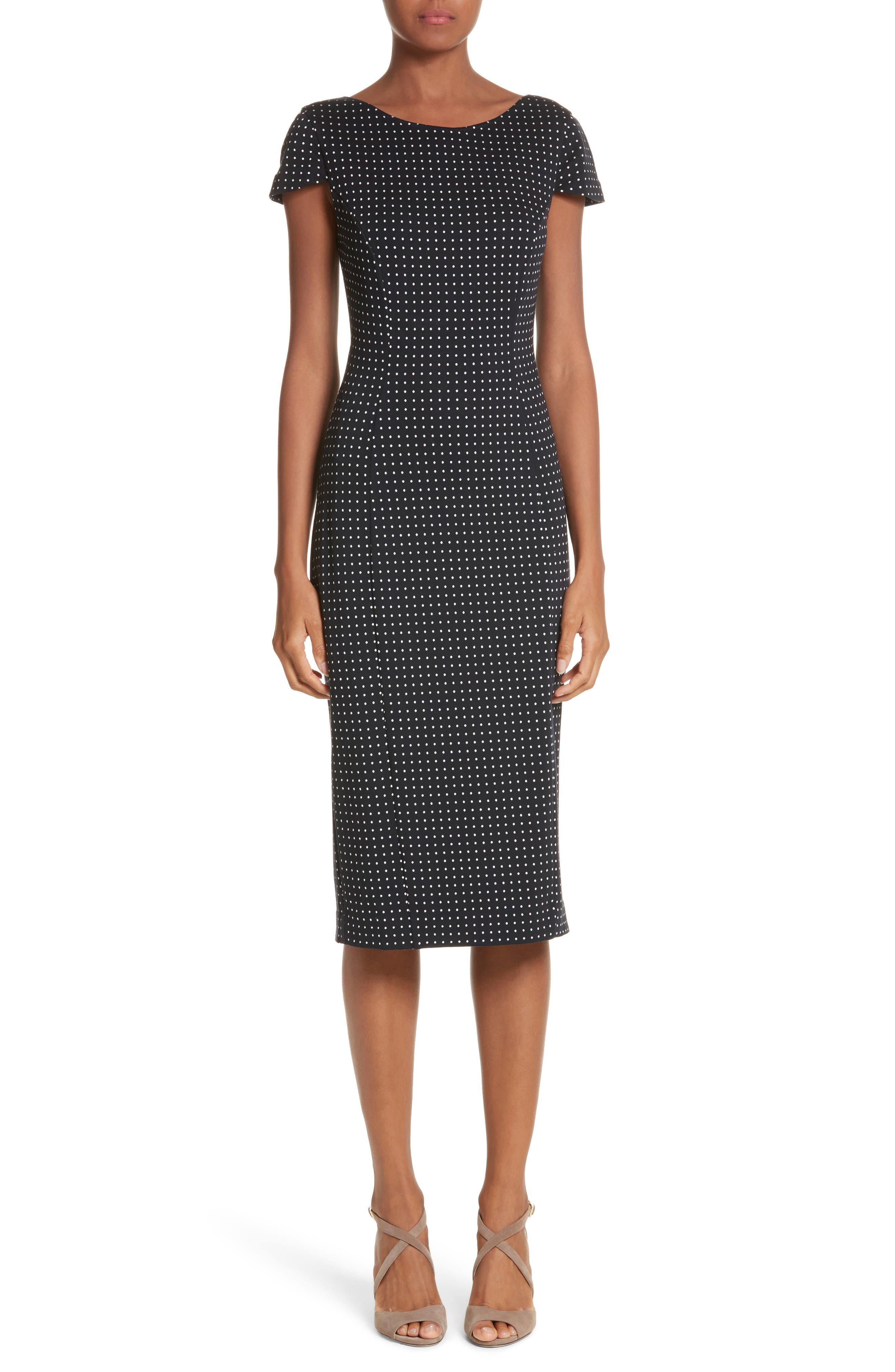 Cirino Polka Dot Sheath Dress,                         Main,                         color, 411