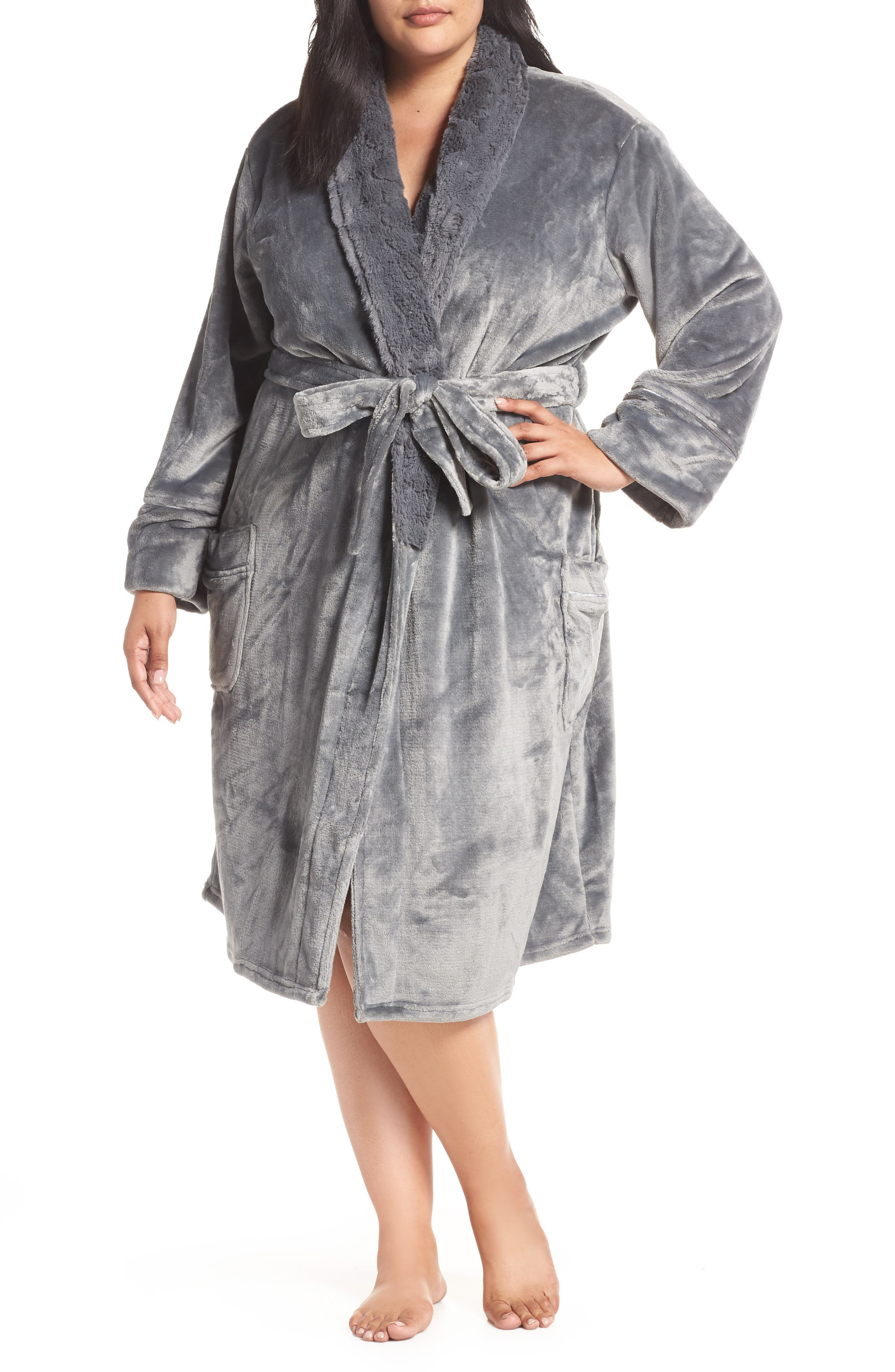 Luxe Faux Fur Robe by Pj Salvage