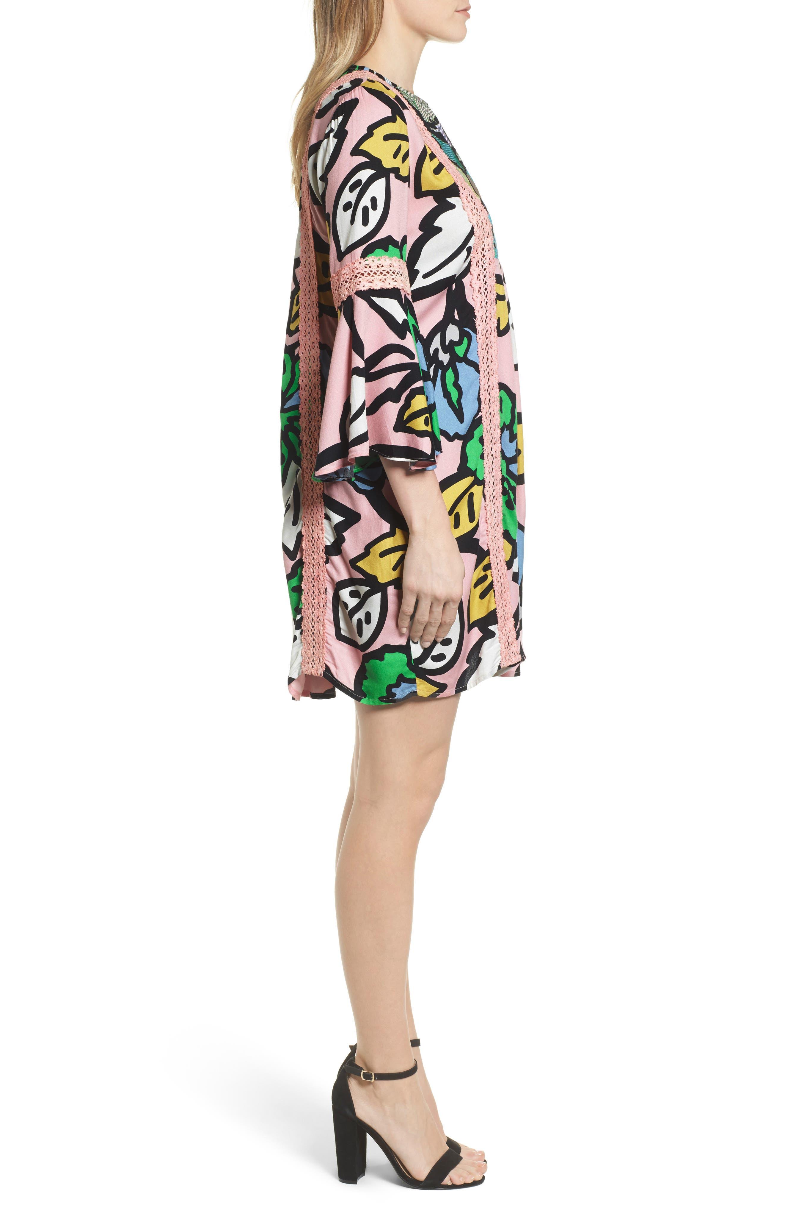Ancona Mod Print Shift Dress,                             Alternate thumbnail 3, color,