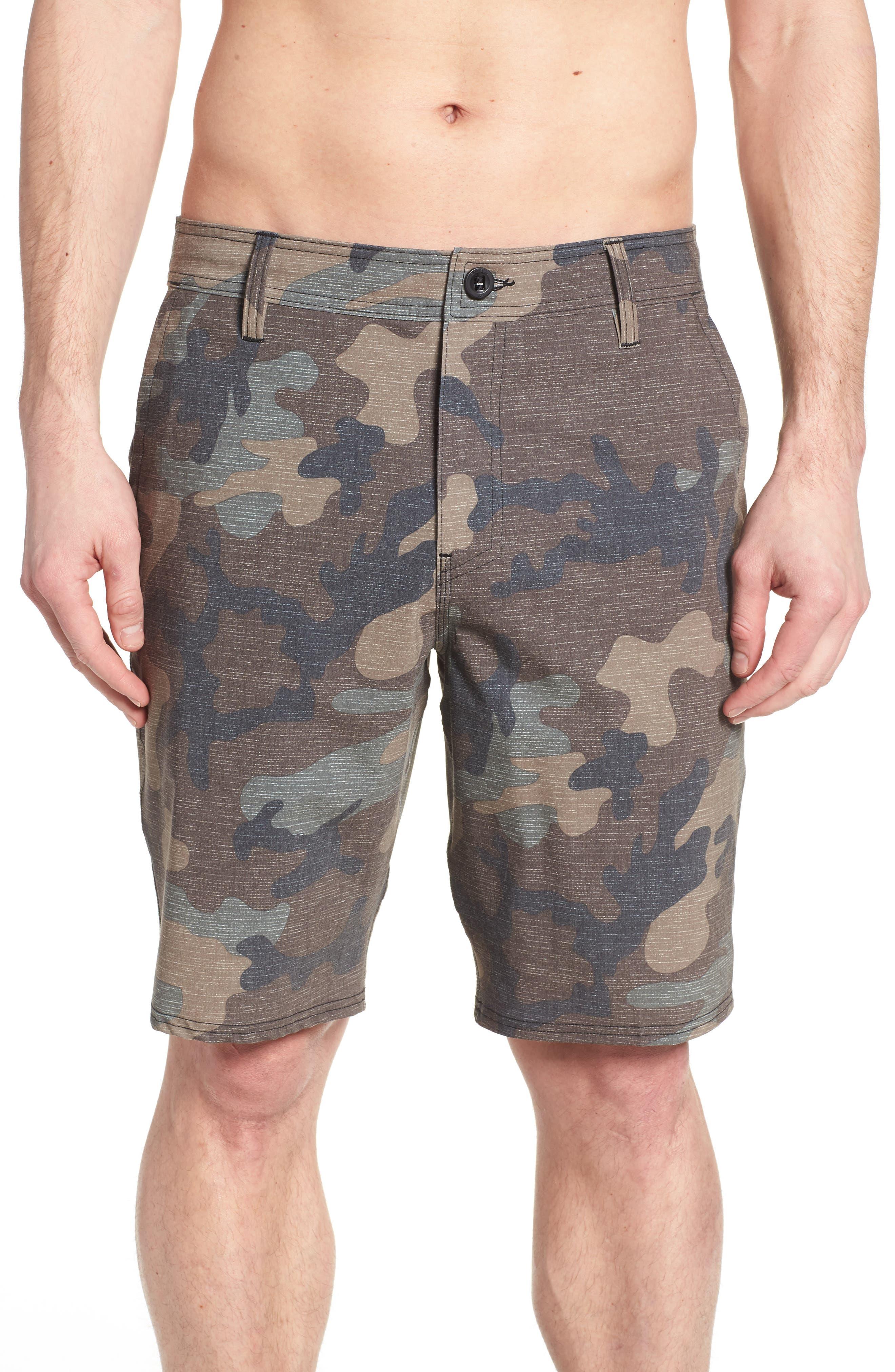Mixed Hybrid Shorts,                             Alternate thumbnail 4, color,                             CAMO