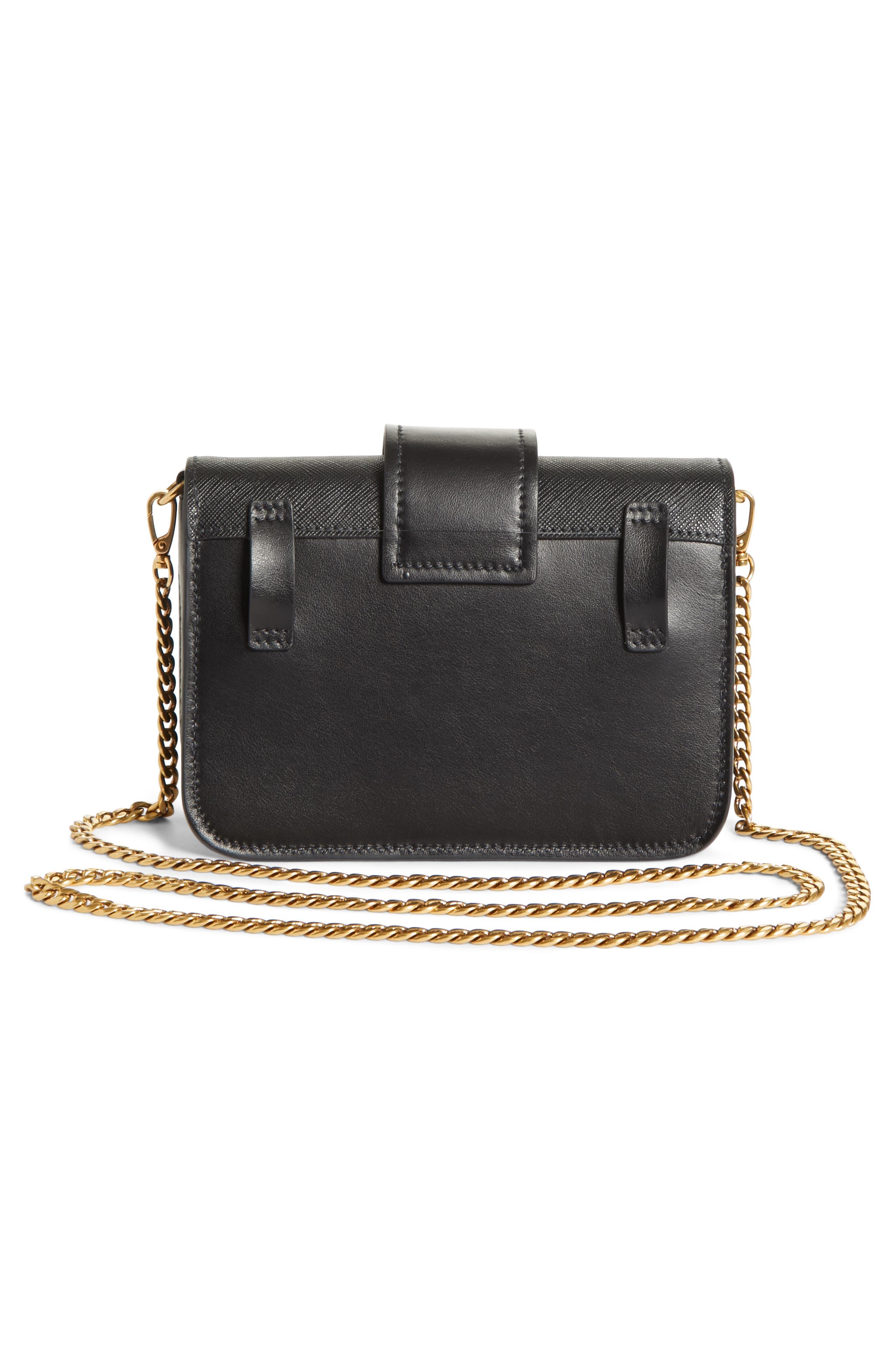 Cahier Calfskin Leather Convertible Belt Bag,                             Alternate thumbnail 3, color,                             001