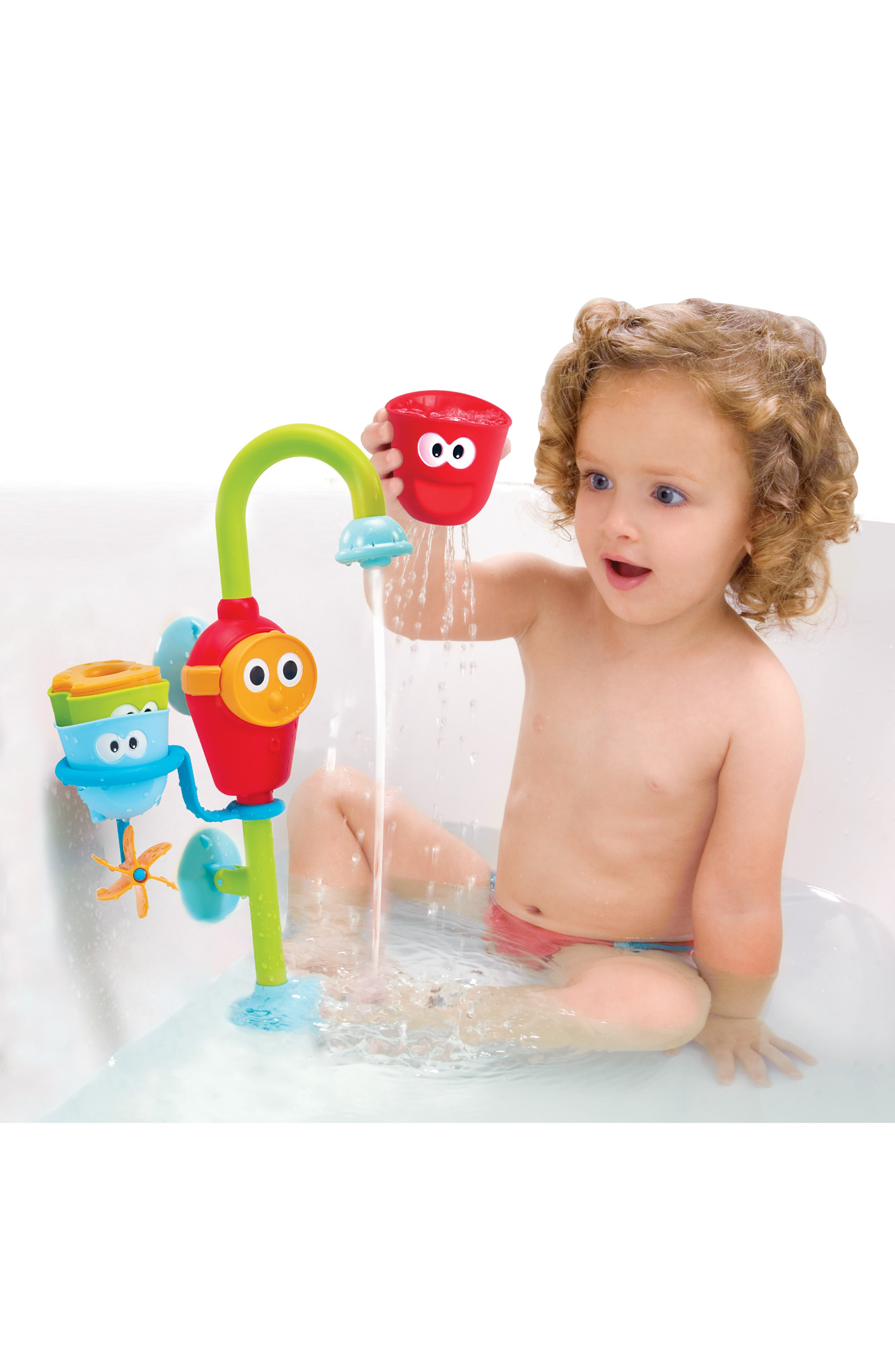 Flow 'N' Fill Spout Bath Toy,                             Alternate thumbnail 7, color,                             GREEN