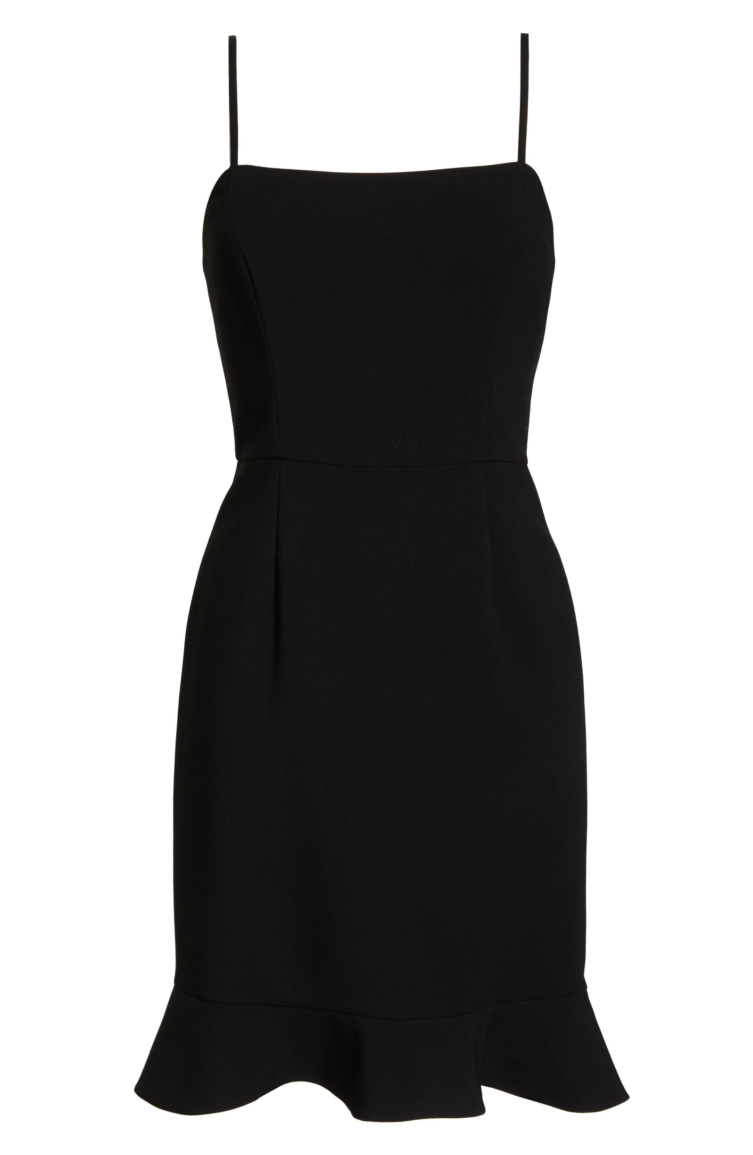 Whisper Sweetheart Dress,                             Alternate thumbnail 8, color,                             BLACK