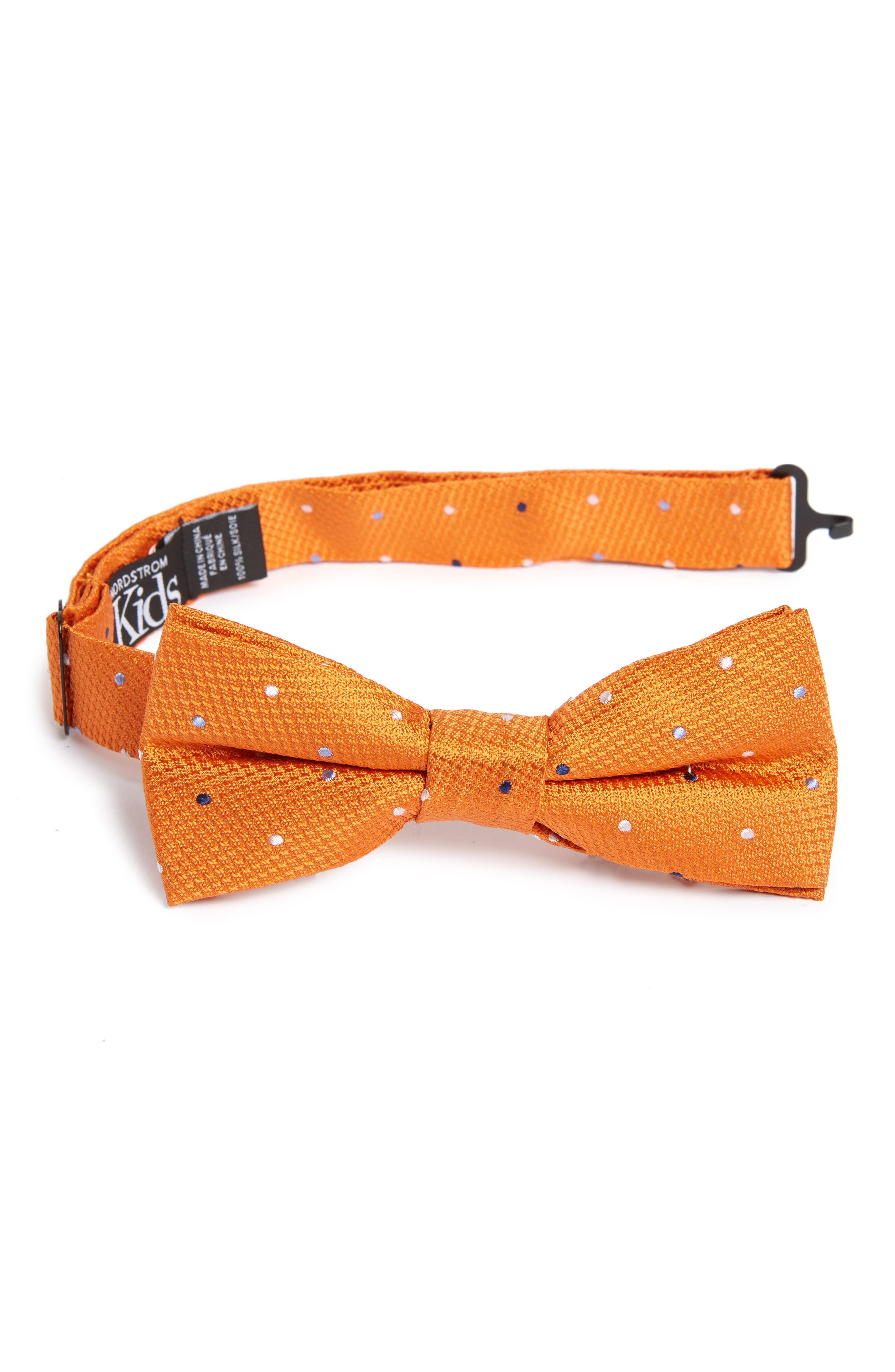 Texture Dot Silk Bow Tie,                             Main thumbnail 1, color,                             800