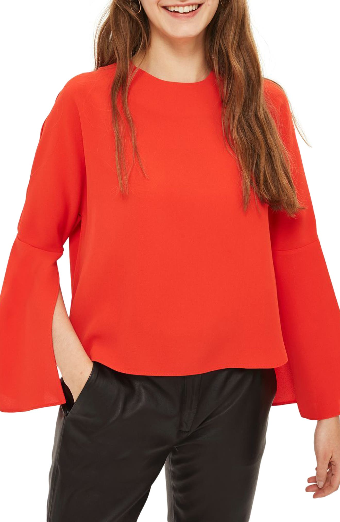 Split Sleeve Top,                             Main thumbnail 2, color,