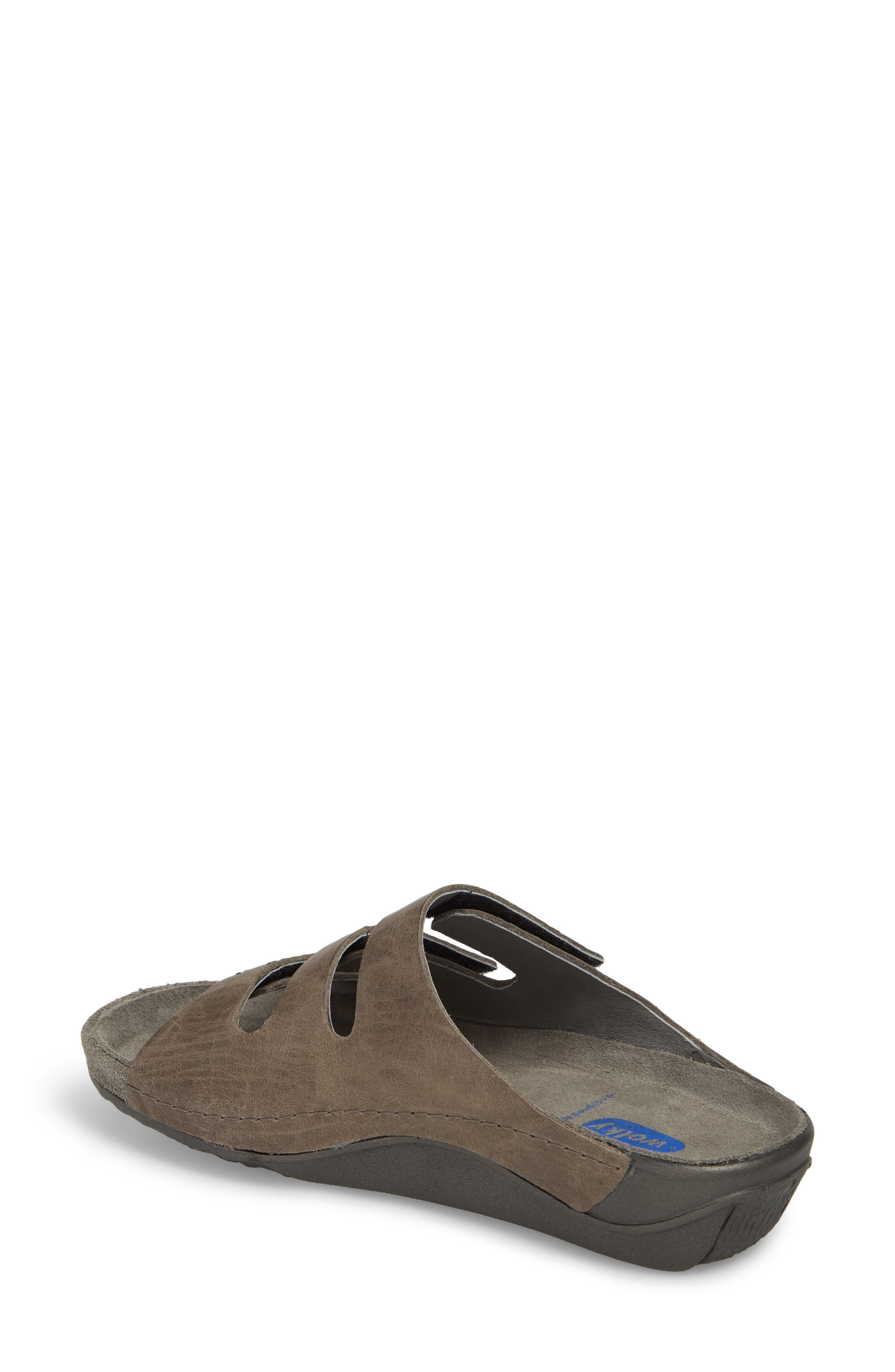 Nomad Slide Sandal,                             Alternate thumbnail 2, color,                             SLATE LEATHER