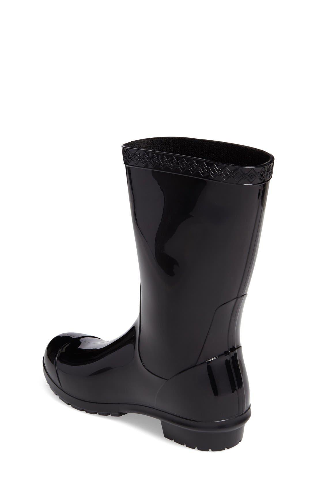 Raana Waterproof Rain Boot,                             Alternate thumbnail 6, color,                             BLACK