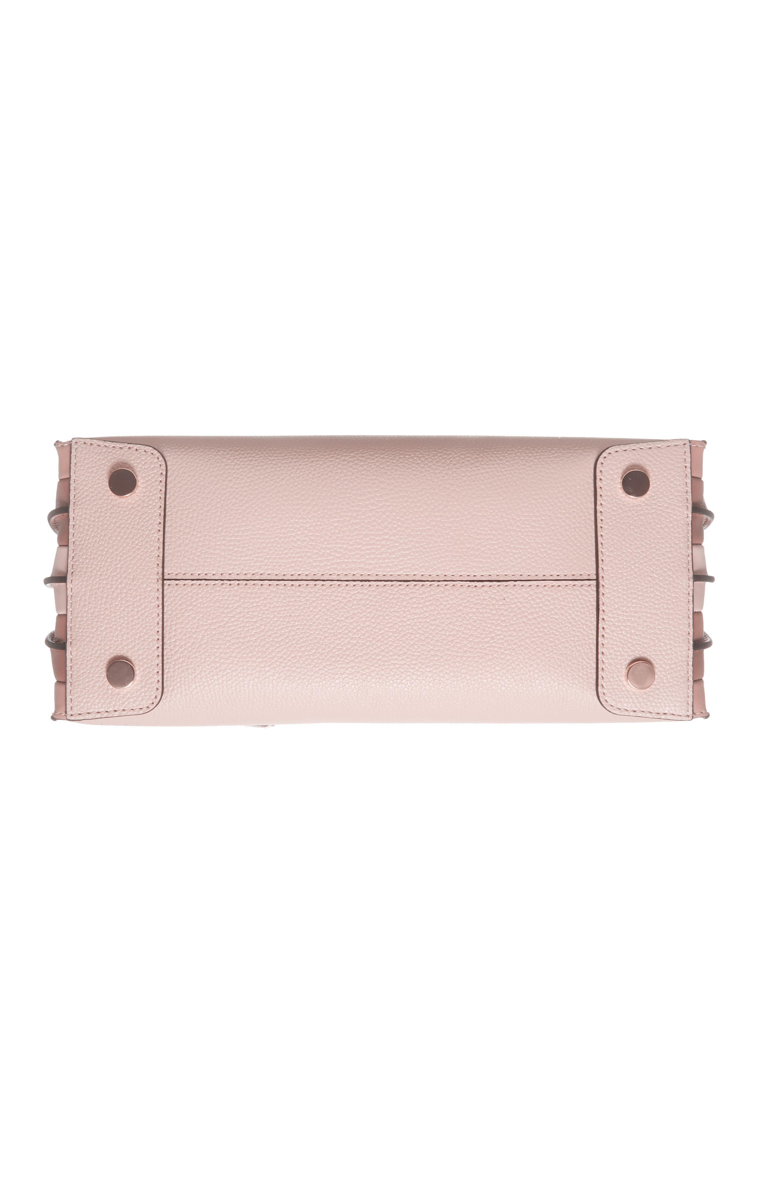 Large Mercer Leather Tote,                             Alternate thumbnail 6, color,                             SOFT PINK