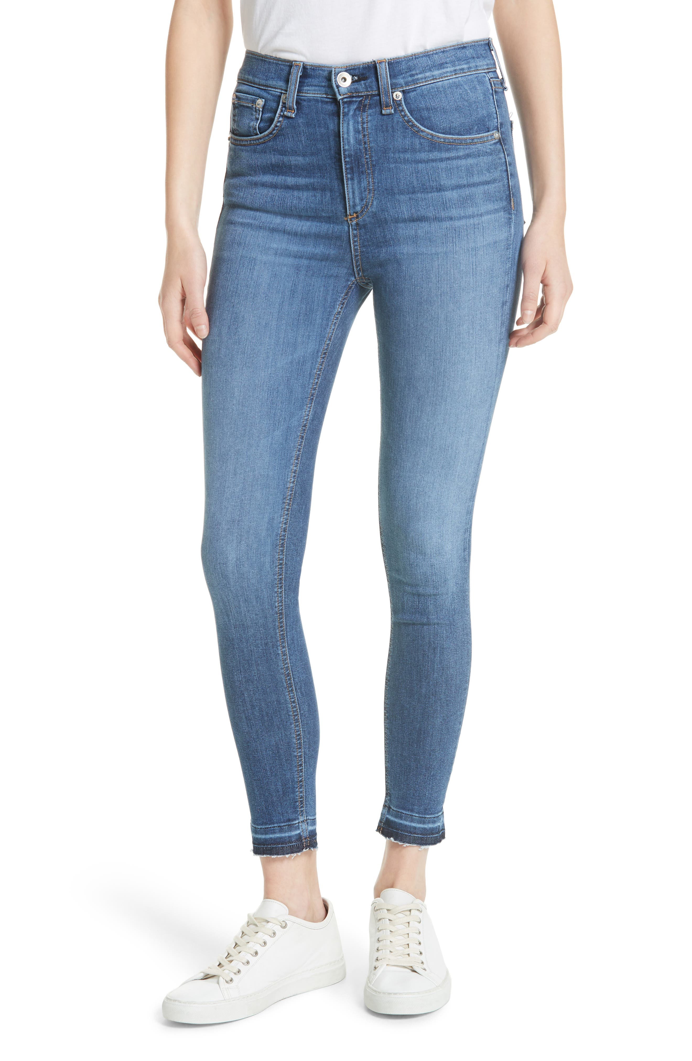 High Waist Ankle Skinny Jeans,                         Main,                         color, 426