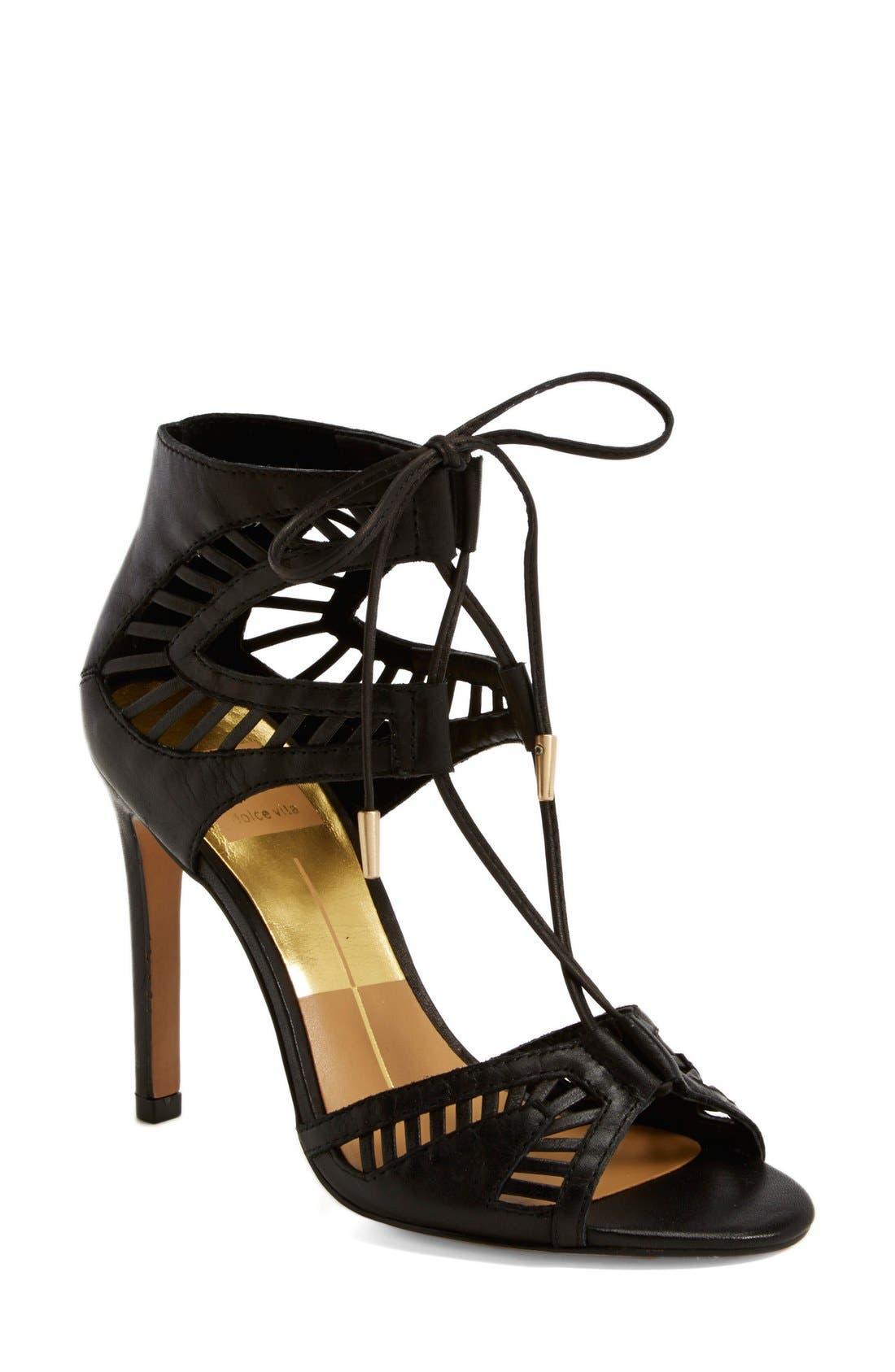 'Henlie' Open Toe Sandal, Main, color, 001