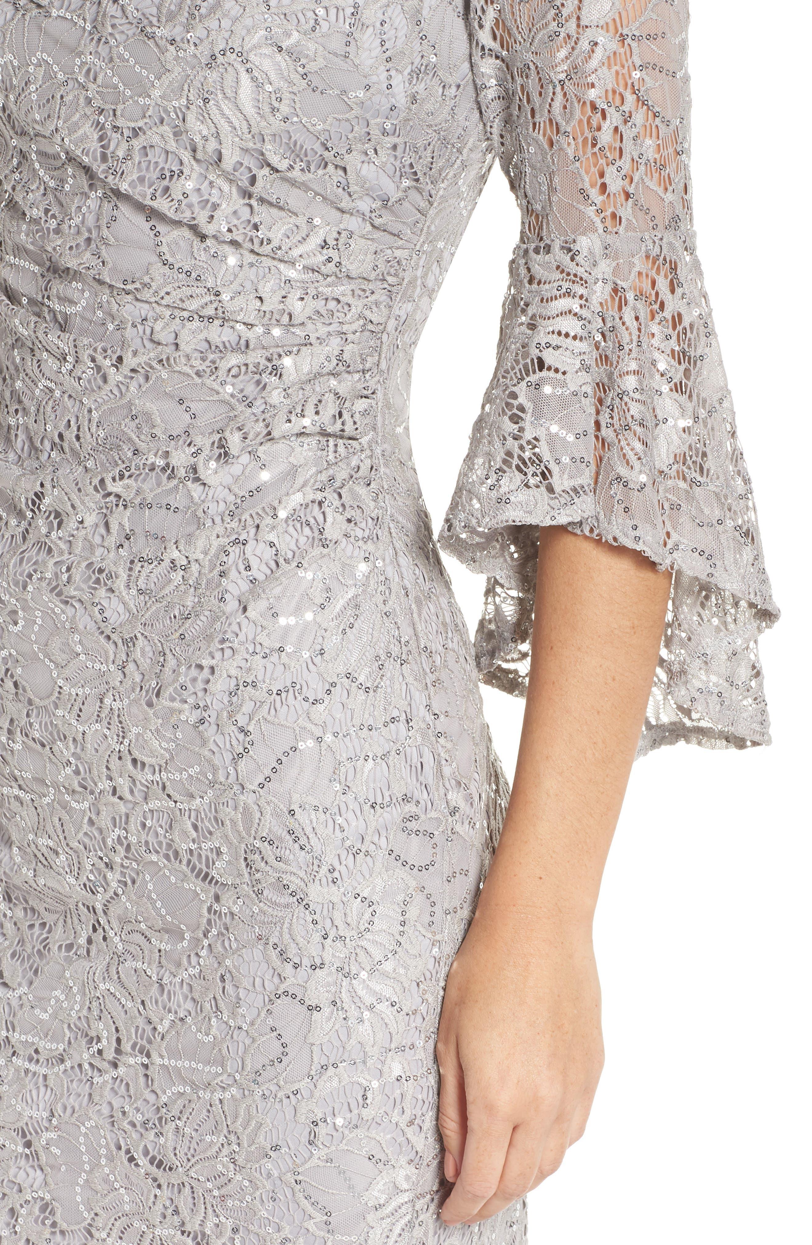 MORGAN & CO.,                             Lace Sheath Dress,                             Alternate thumbnail 5, color,                             040