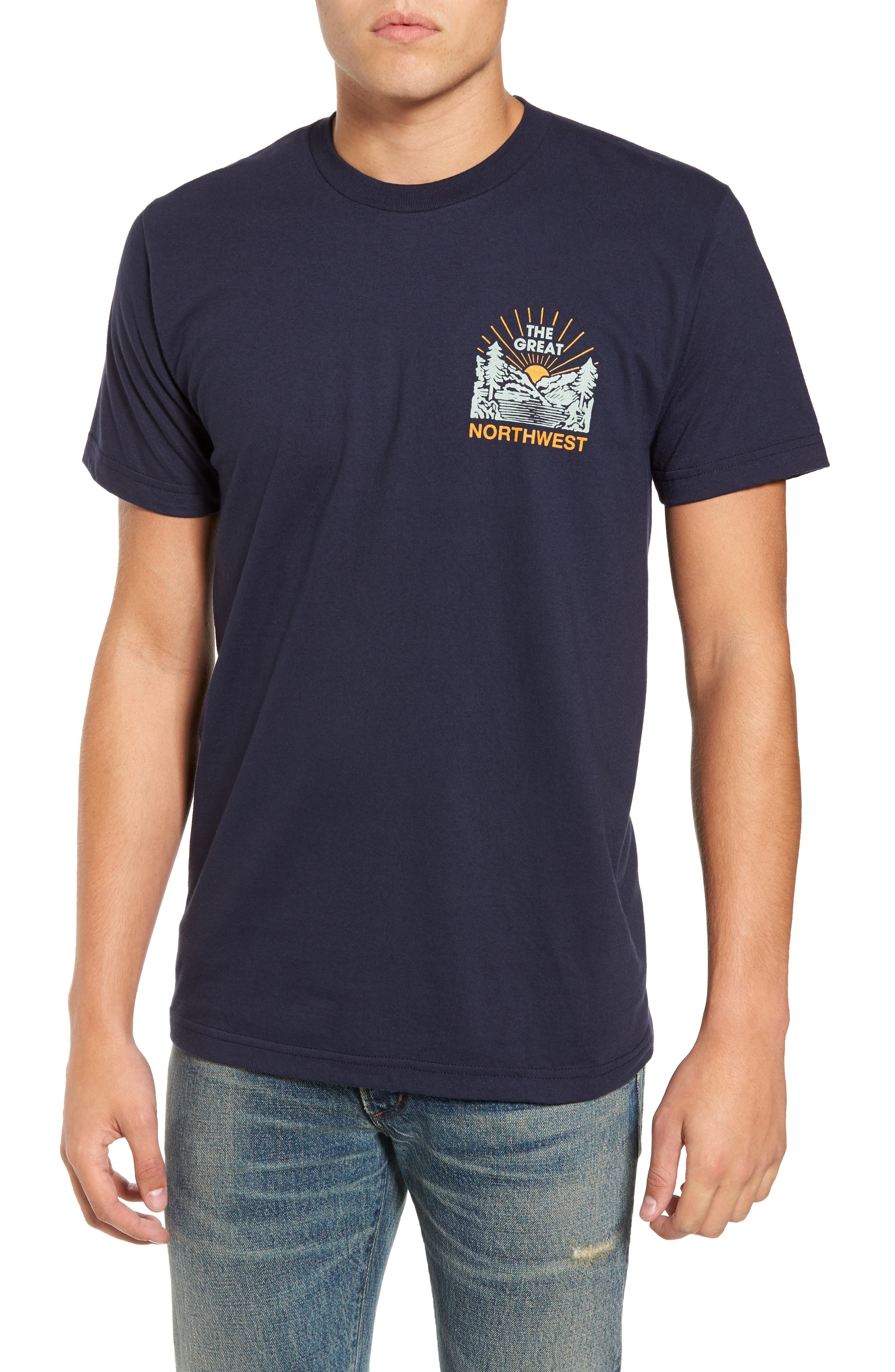 Squatch Valley 2 Graphic T-Shirt,                             Main thumbnail 2, color,