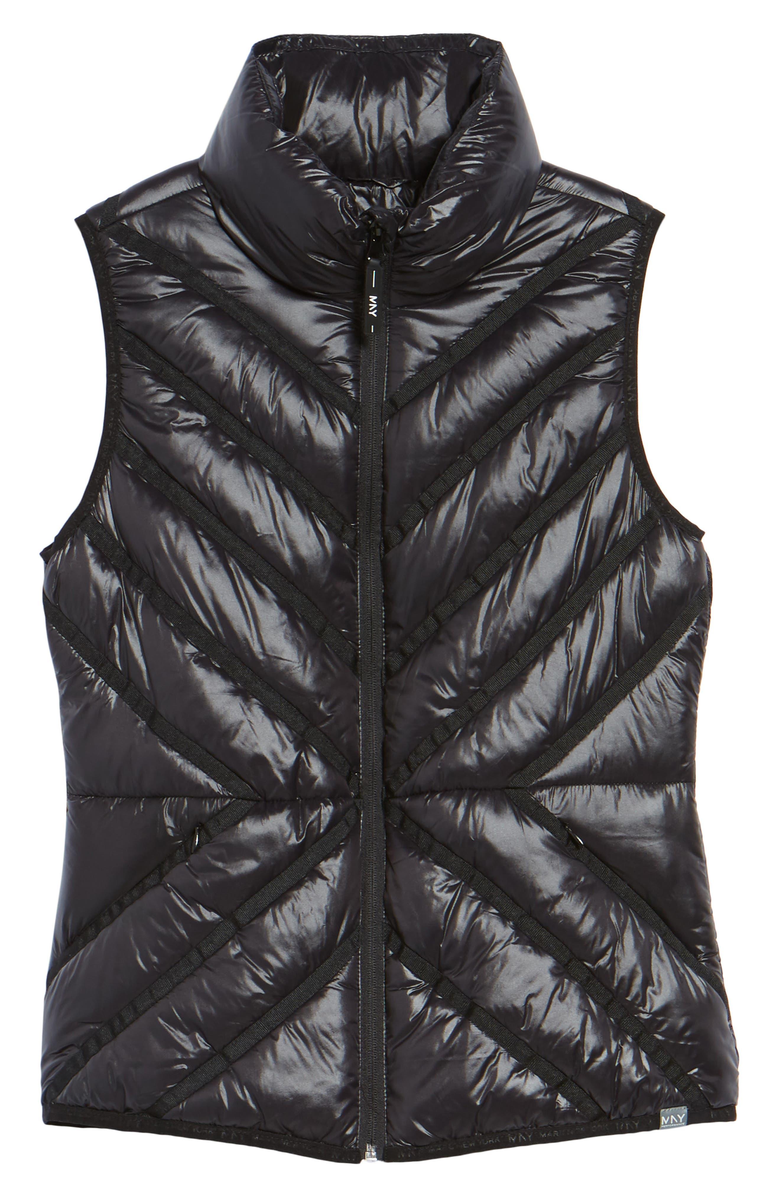 Chevron Quilt Puffer Vest,                             Alternate thumbnail 5, color,                             001