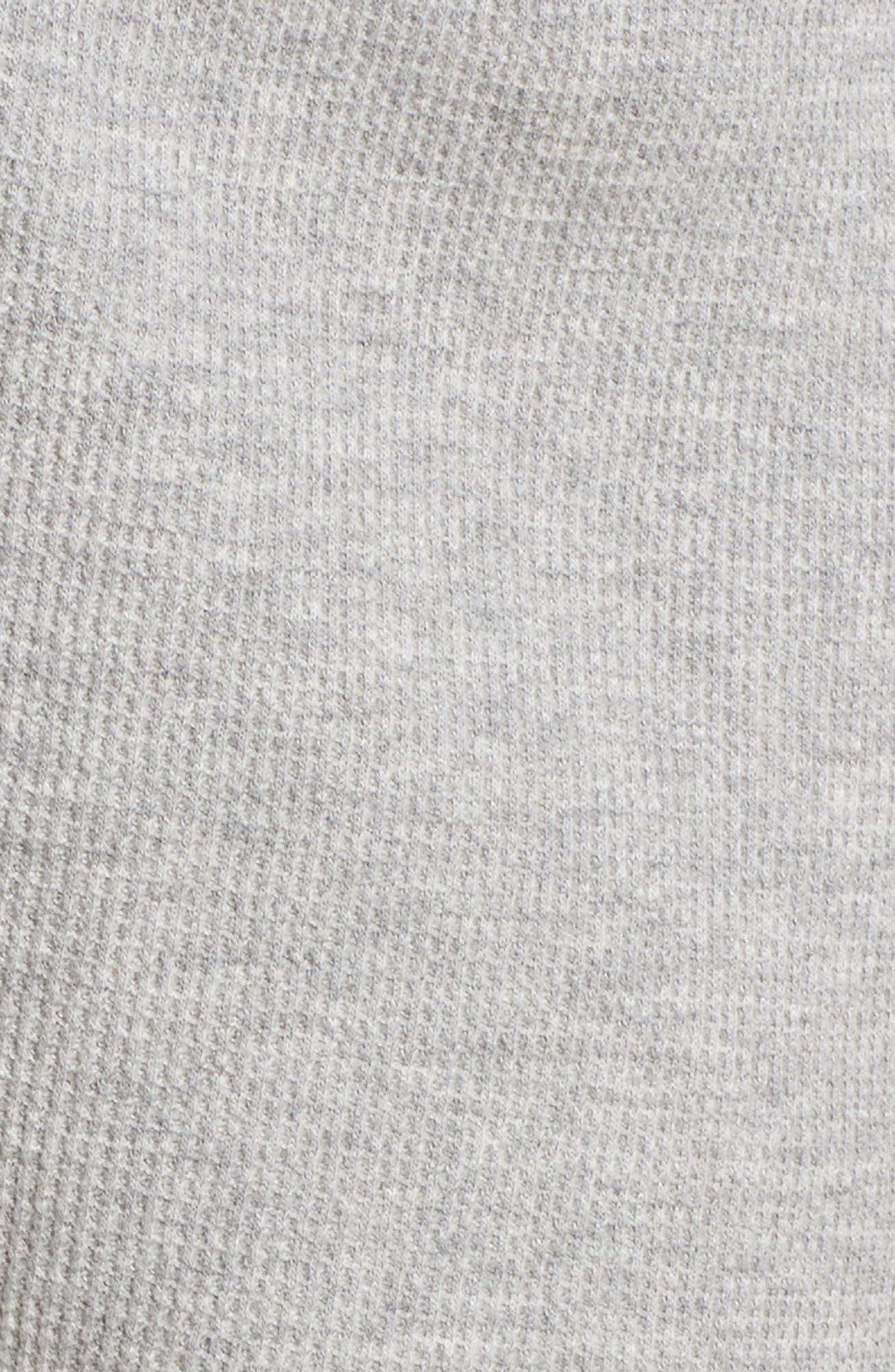 Waffle Knit Lounge Shorts,                             Alternate thumbnail 5, color,                             020