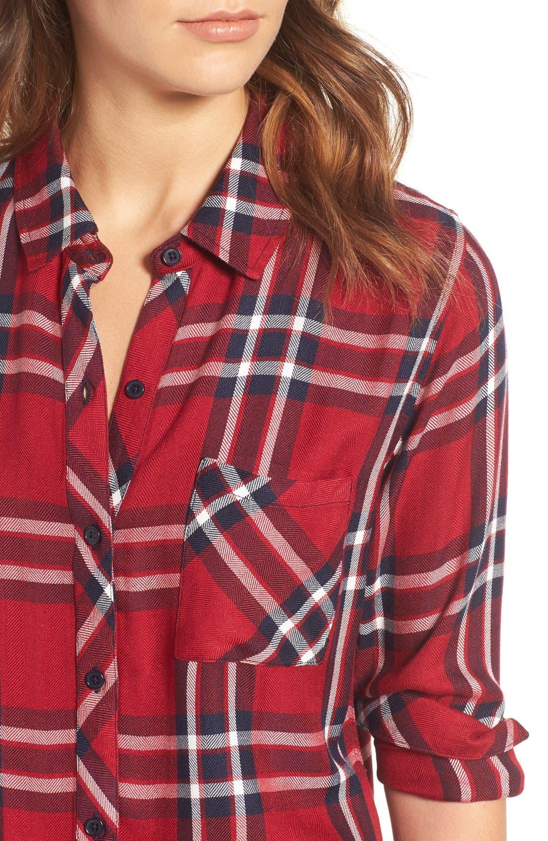 Hunter Plaid Shirt,                             Alternate thumbnail 543, color,