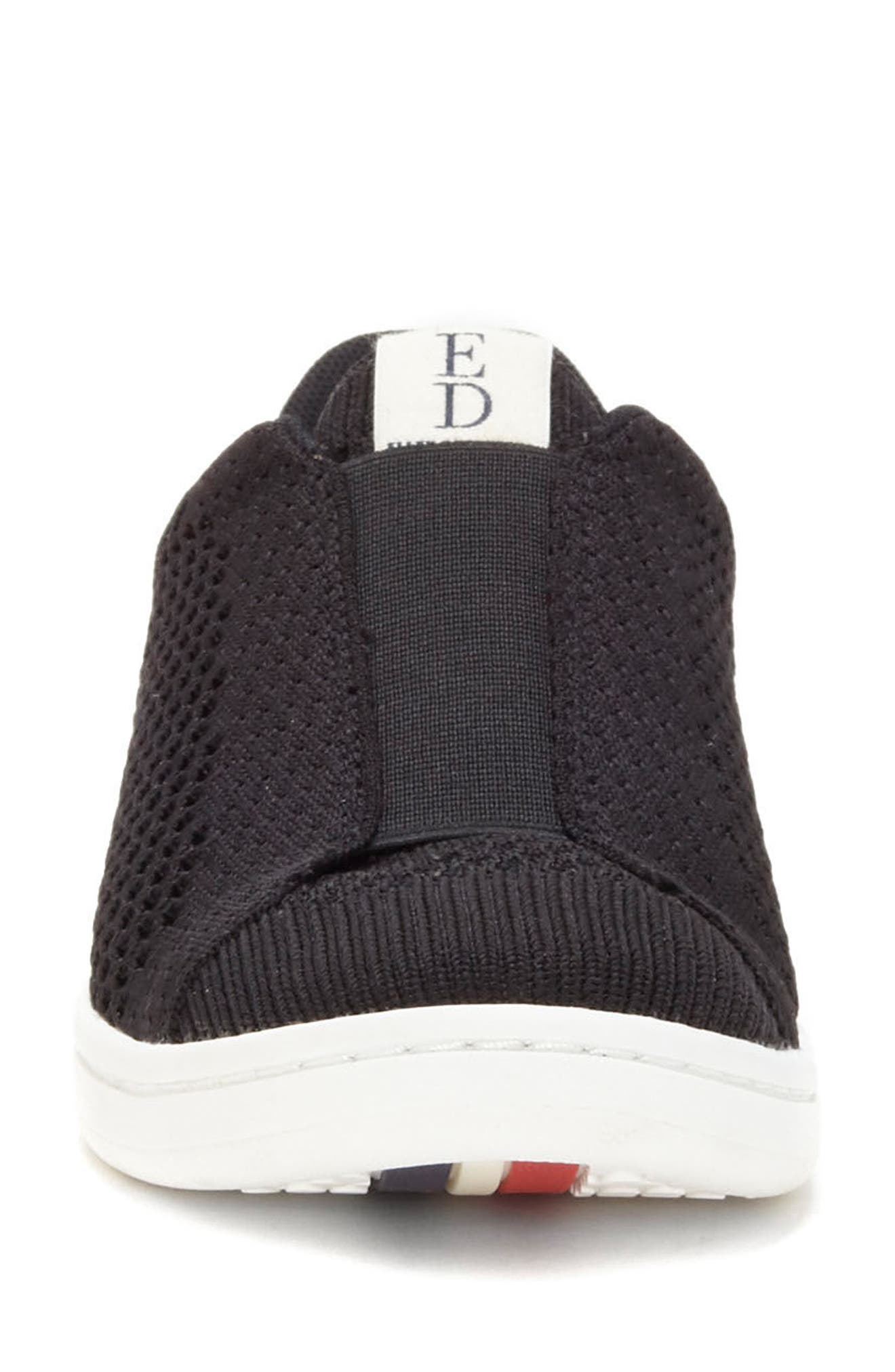 Casbey Slip-On Sneaker,                             Alternate thumbnail 4, color,                             BLACK/ BLACK FABRIC