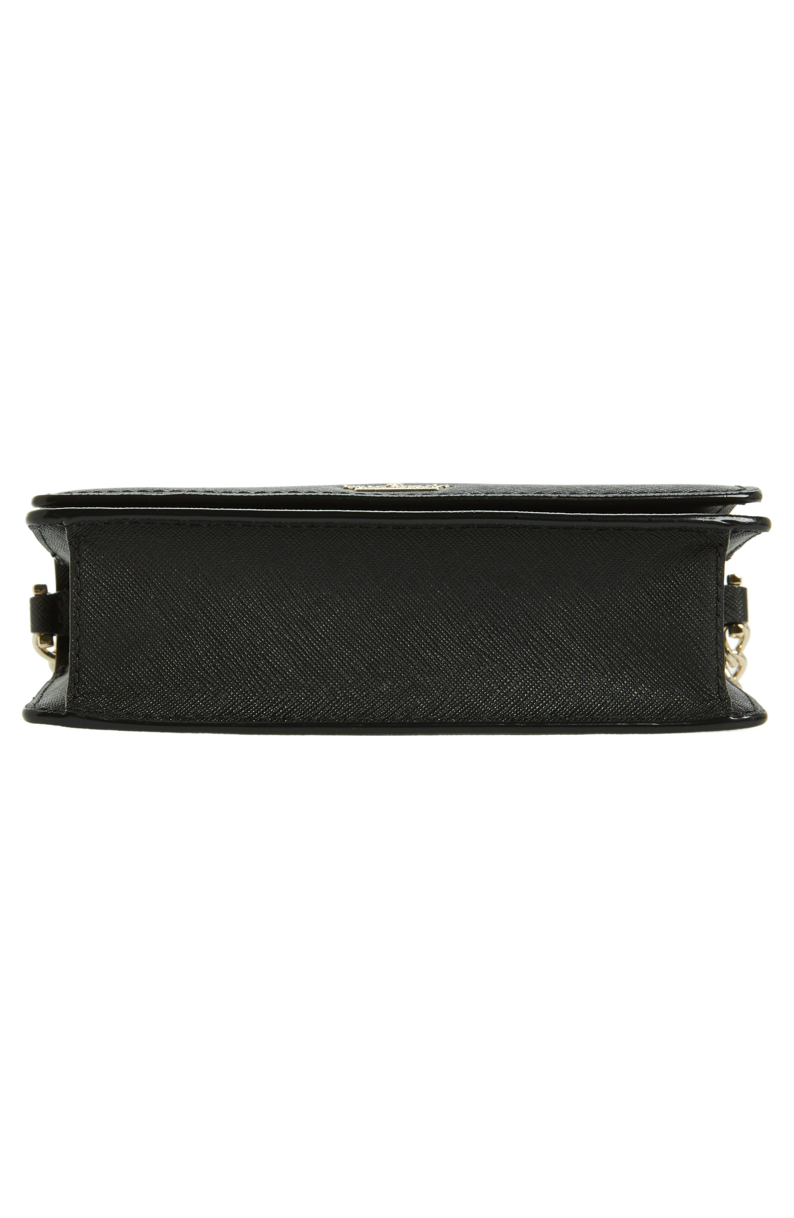 cameron street - shreya leather crossbody bag,                             Alternate thumbnail 6, color,                             001