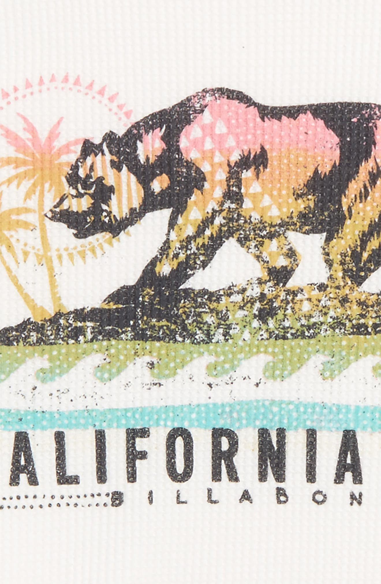 Cali Bear Thermal Tee,                             Alternate thumbnail 2, color,