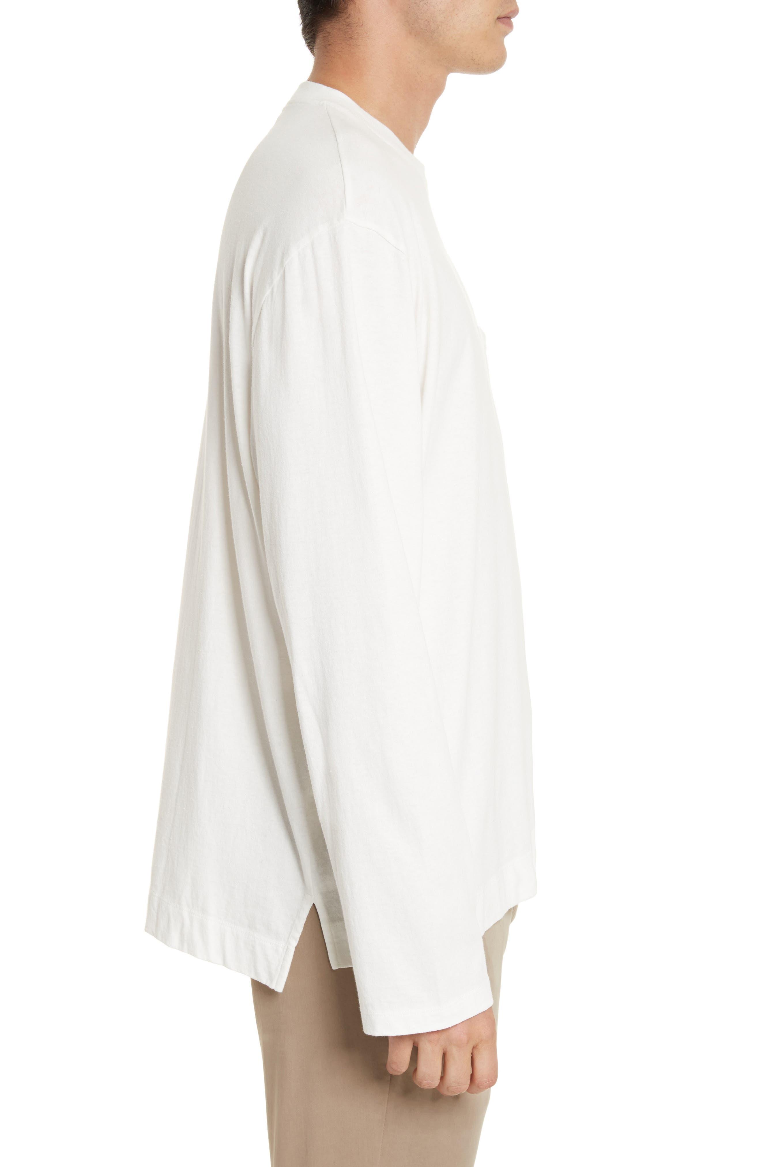 Box Fit Pocket T-Shirt,                             Alternate thumbnail 3, color,                             WHITE