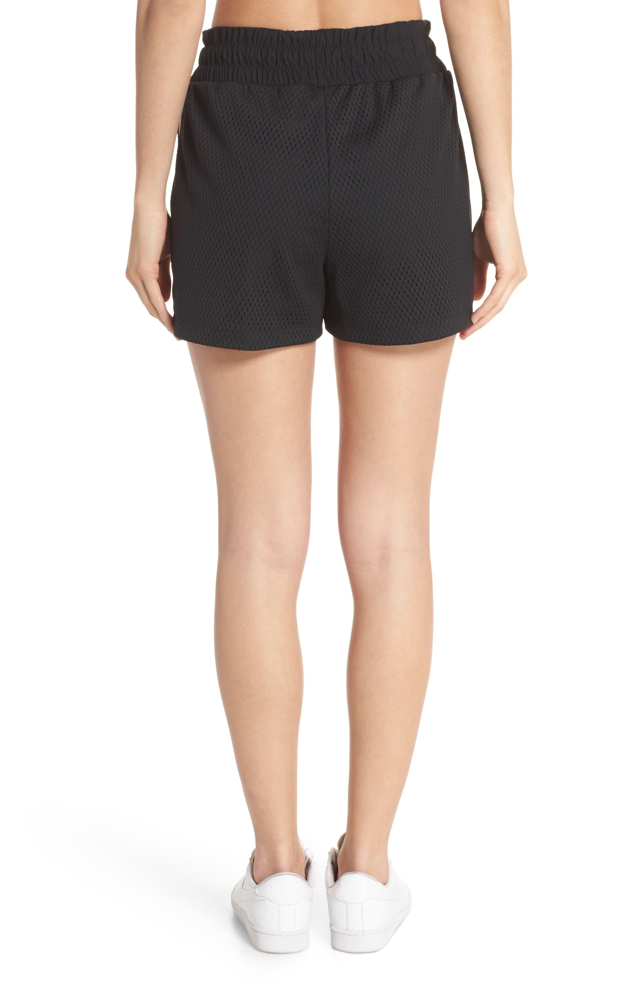 Sportswear Women's Dri-FIT Mesh Shorts,                             Alternate thumbnail 2, color,                             BLACK/ LIGHT BONE