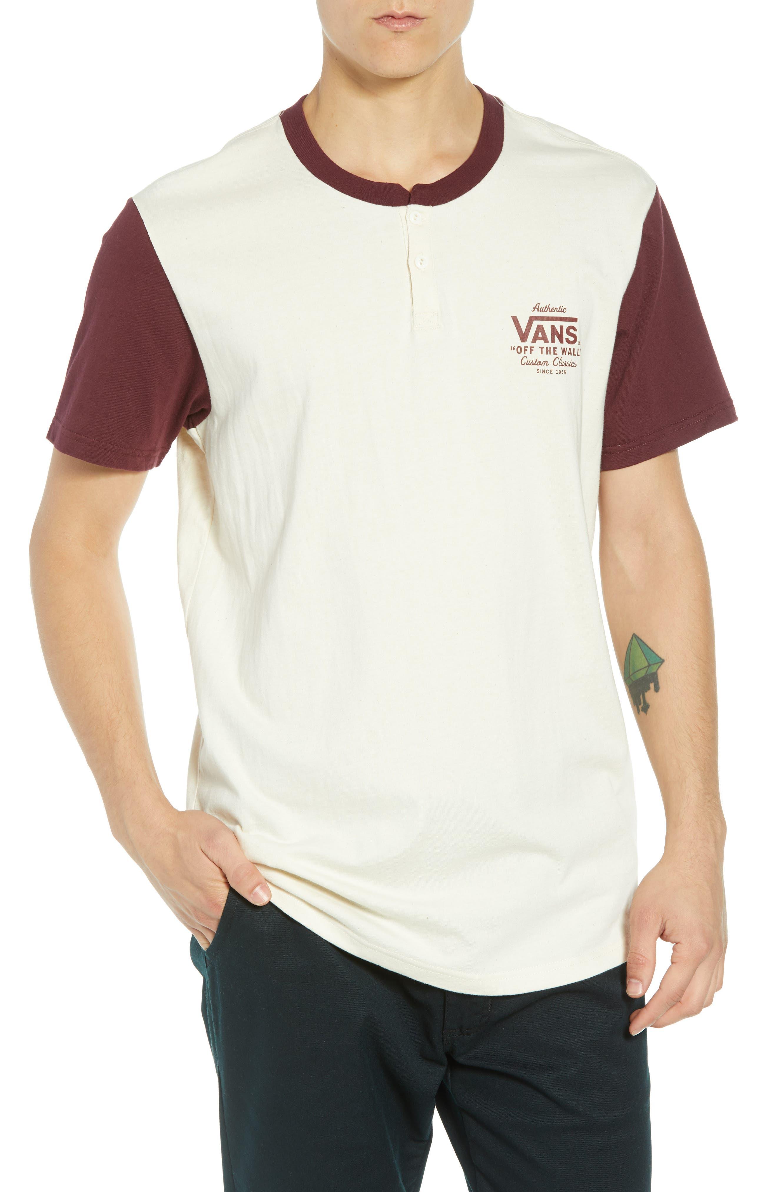 Vans Holder Street Henley T-Shirt, Ivory