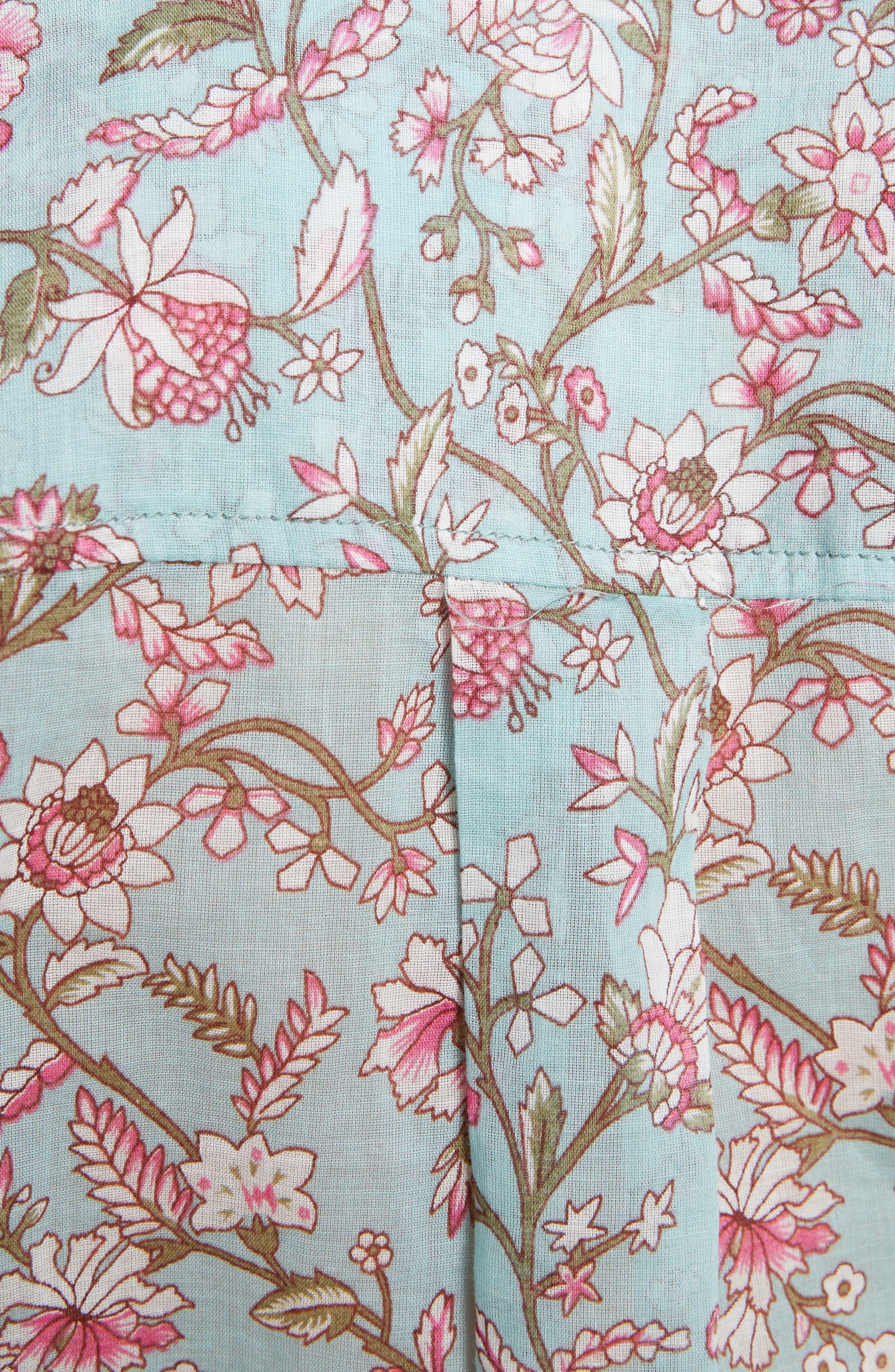 Isabel Marant Étoile Maria Print Cotton Blouse,                             Alternate thumbnail 9, color,