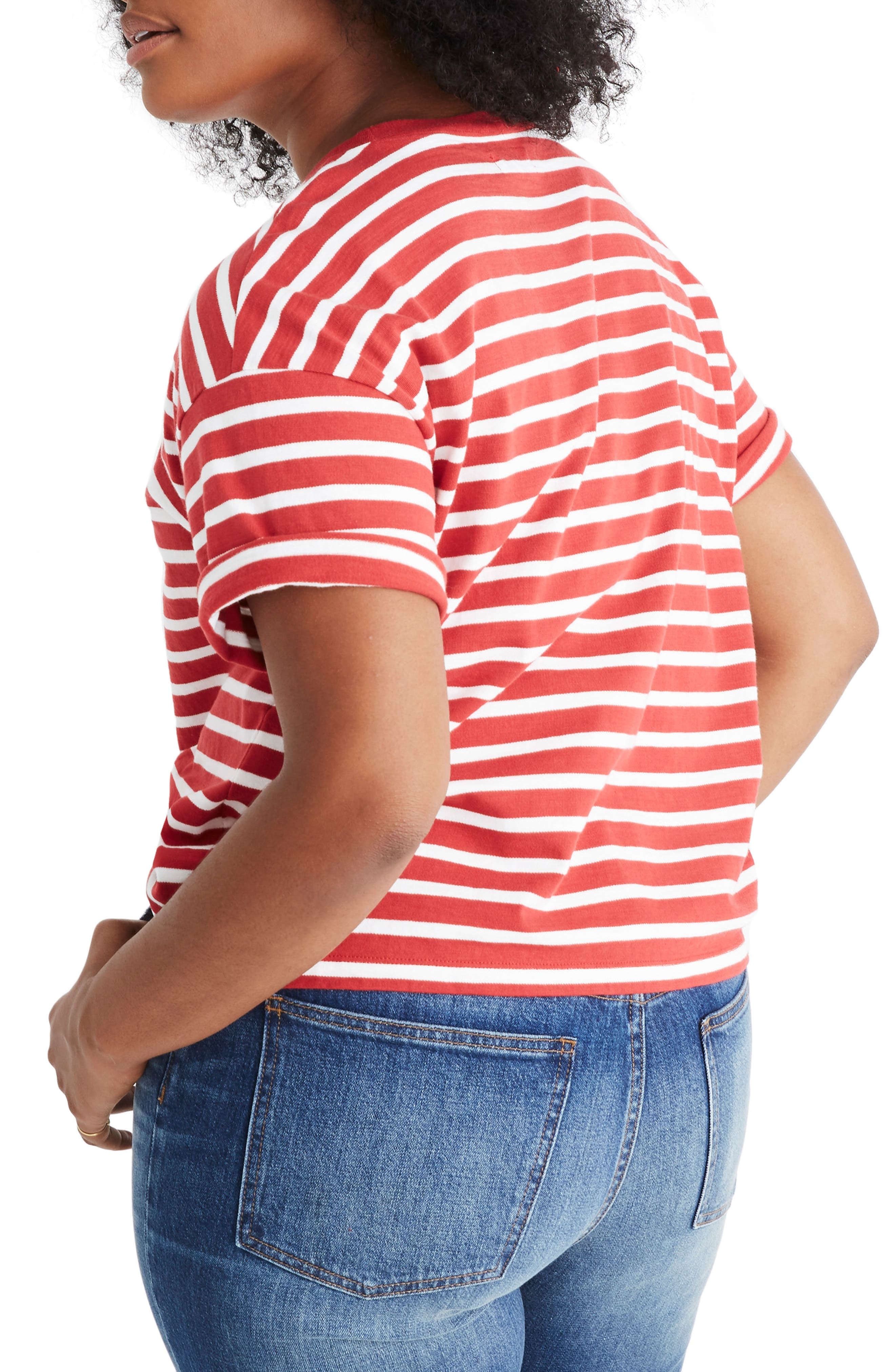 MADEWELL,                             Stripe Ciao for Now Tee,                             Alternate thumbnail 6, color,                             600
