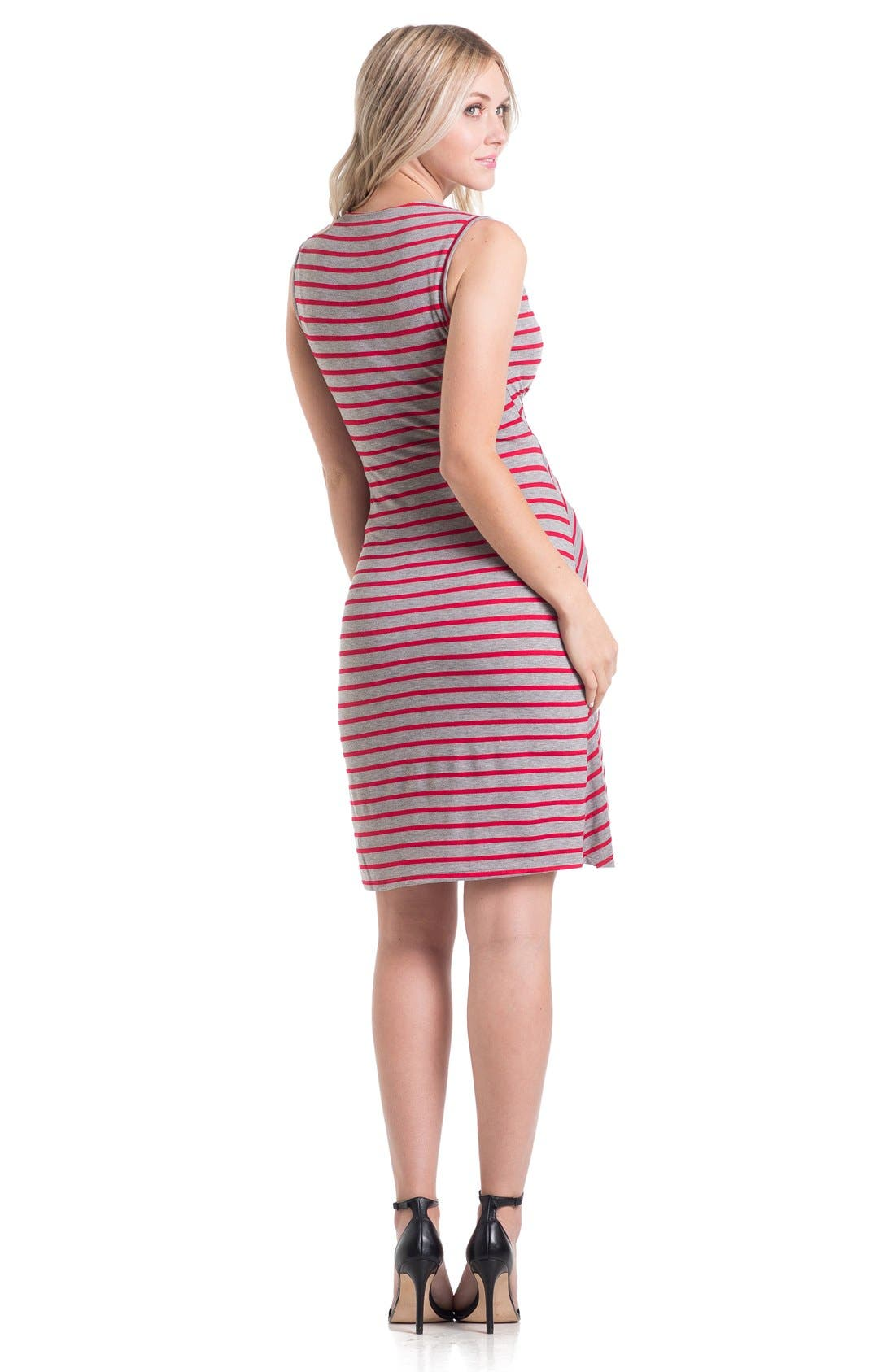 'Brynley' Surplice Maternity Dress,                             Alternate thumbnail 2, color,                             061