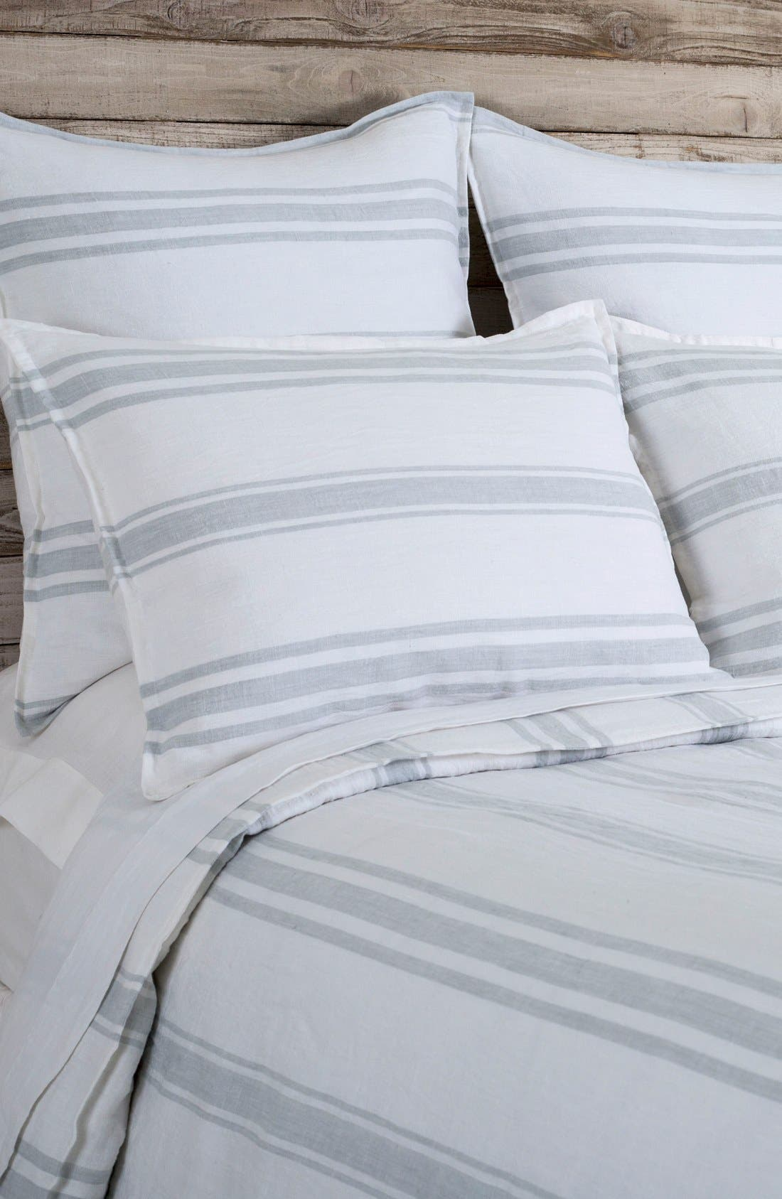 Jackson Duvet Cover,                             Main thumbnail 1, color,                             WHITE/ OCEAN