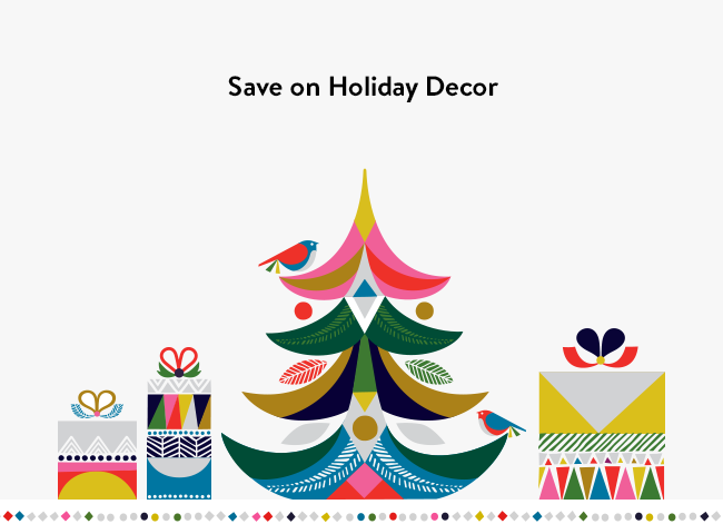 Save on holiday decor.