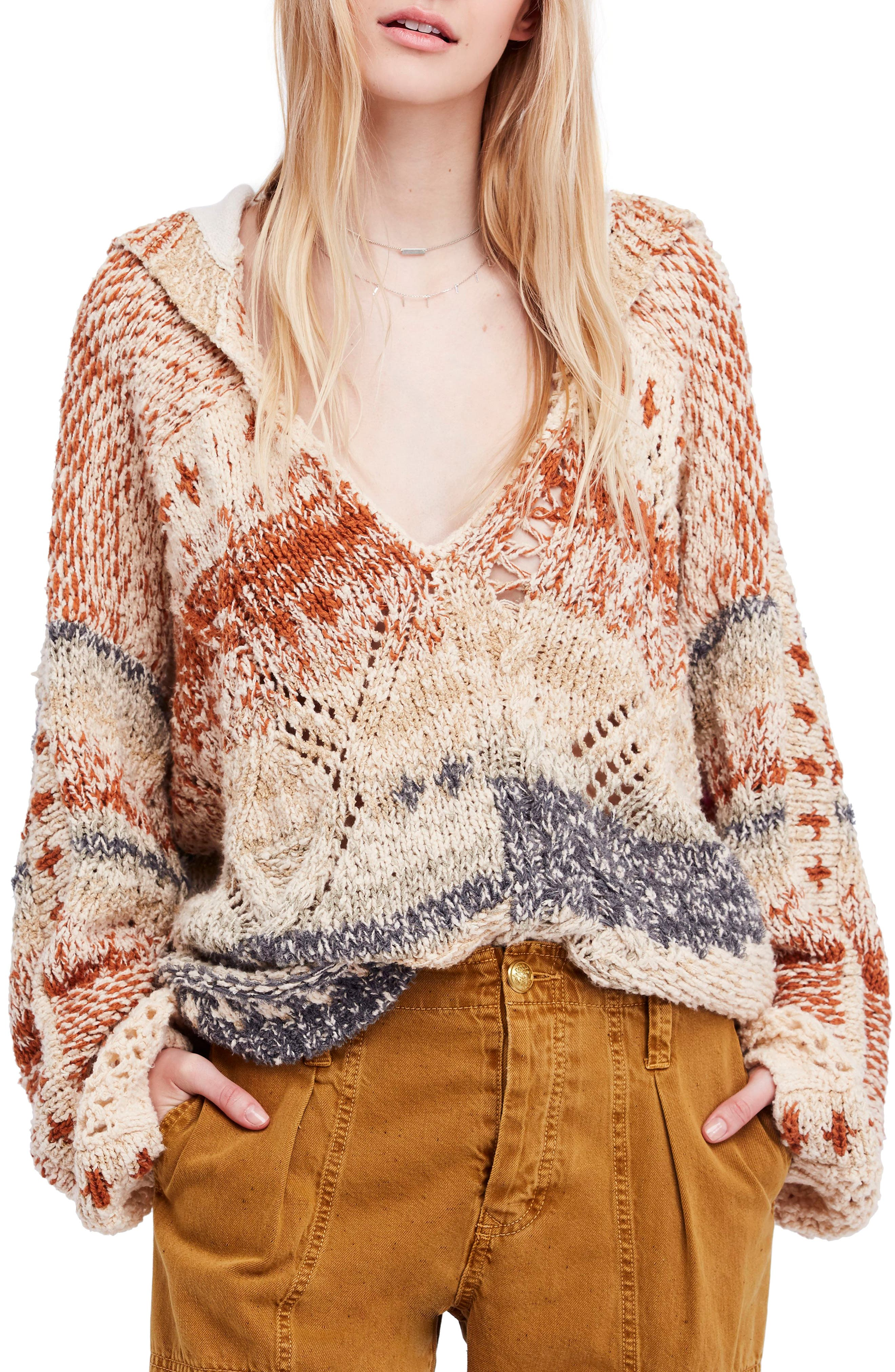 In My Arms Chunky Hooded Sweater, Main, color, 250