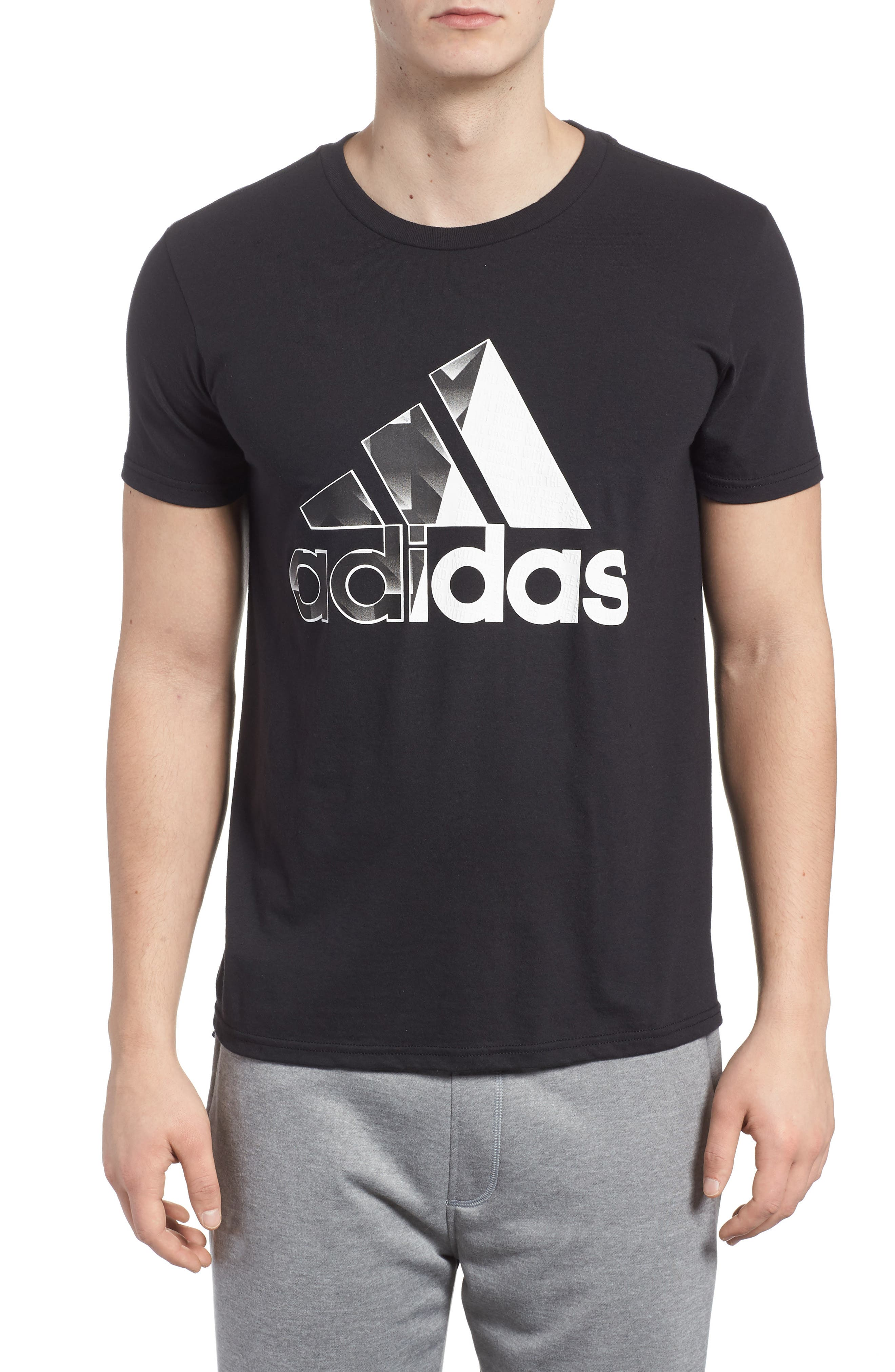 Bos Split T-Shirt,                             Main thumbnail 1, color,                             001