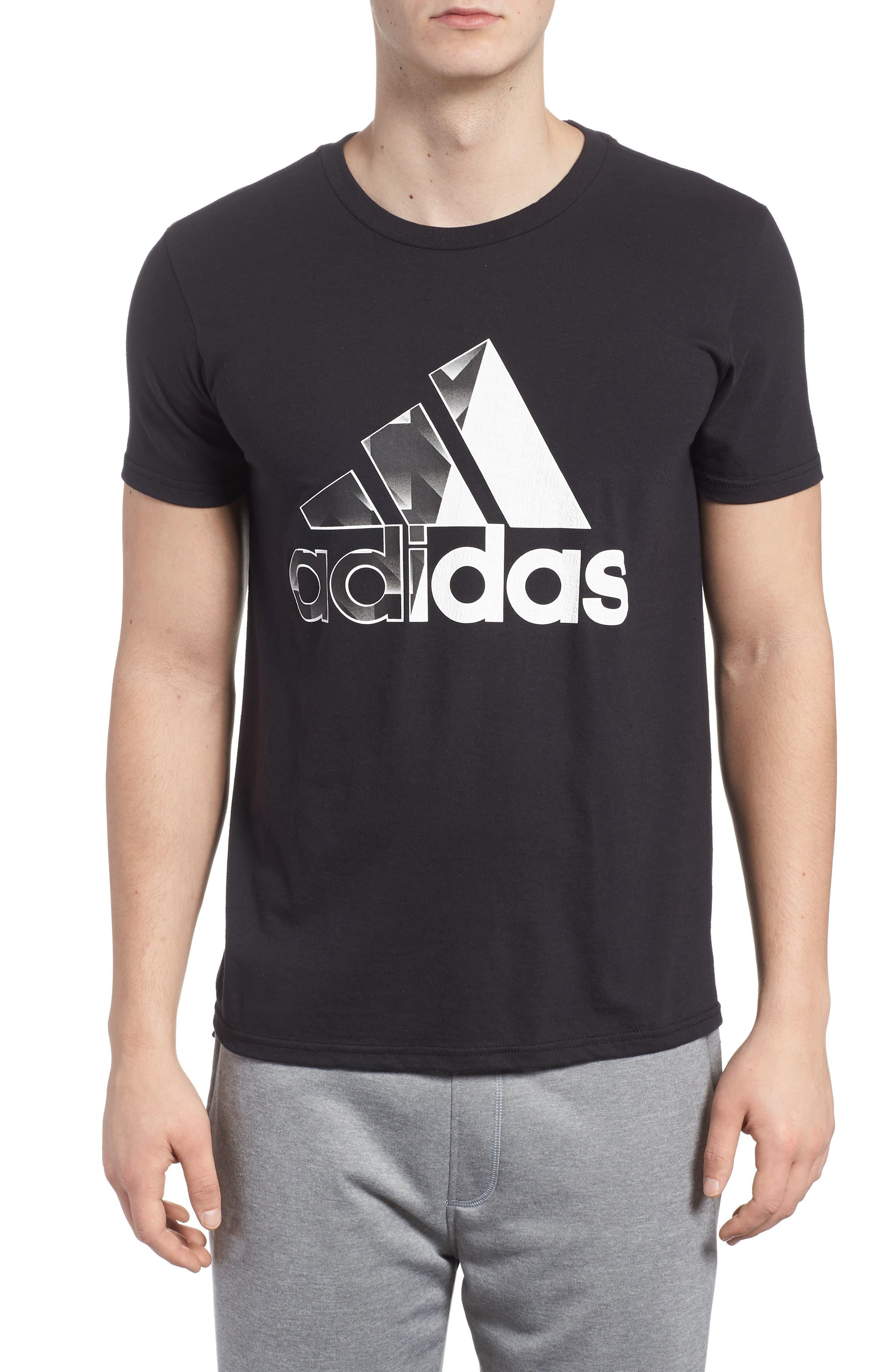 Bos Split T-Shirt,                         Main,                         color, 001