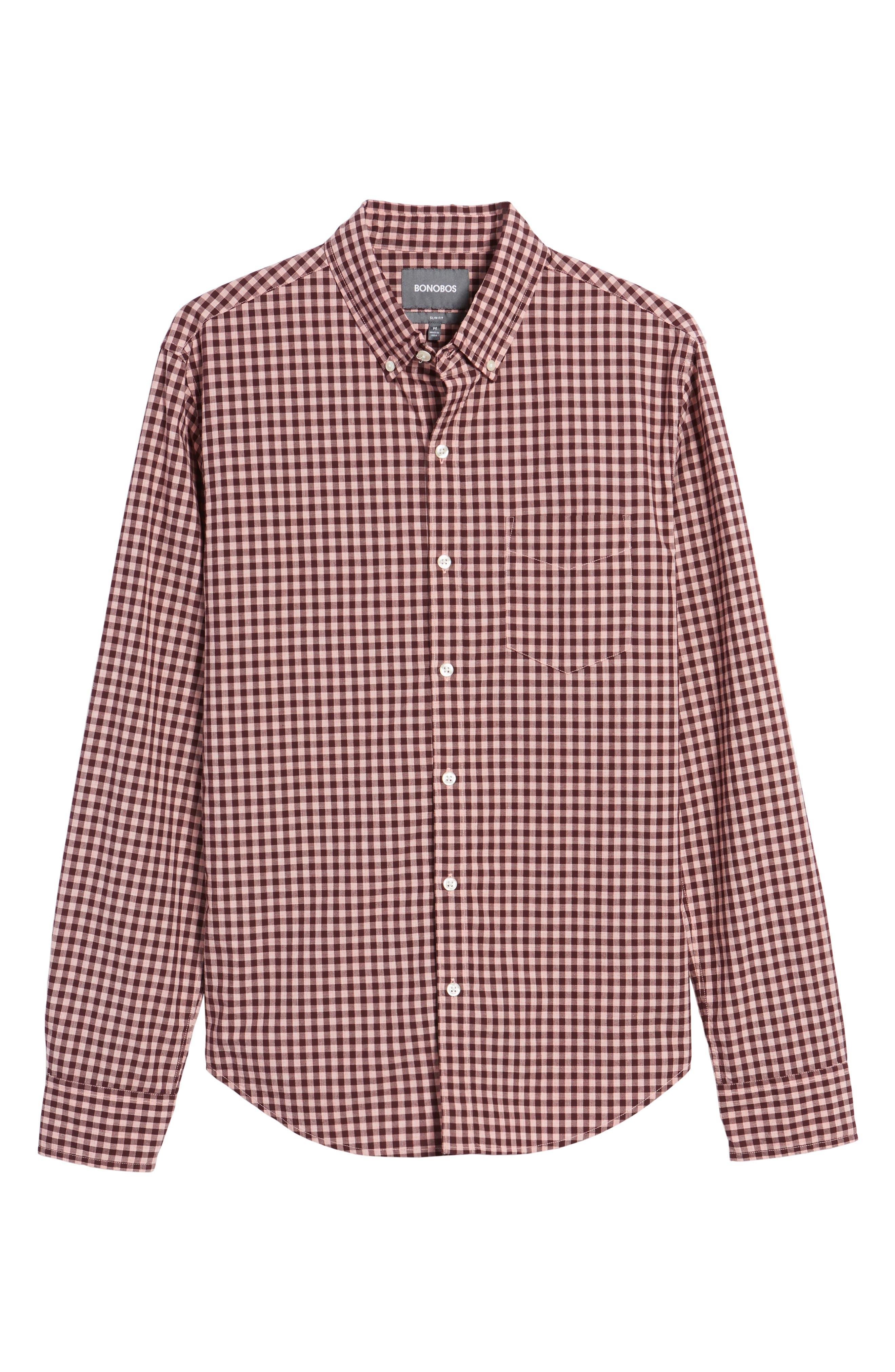 Slim Fit Washed Ombré Check Sport Shirt,                             Alternate thumbnail 6, color,                             650