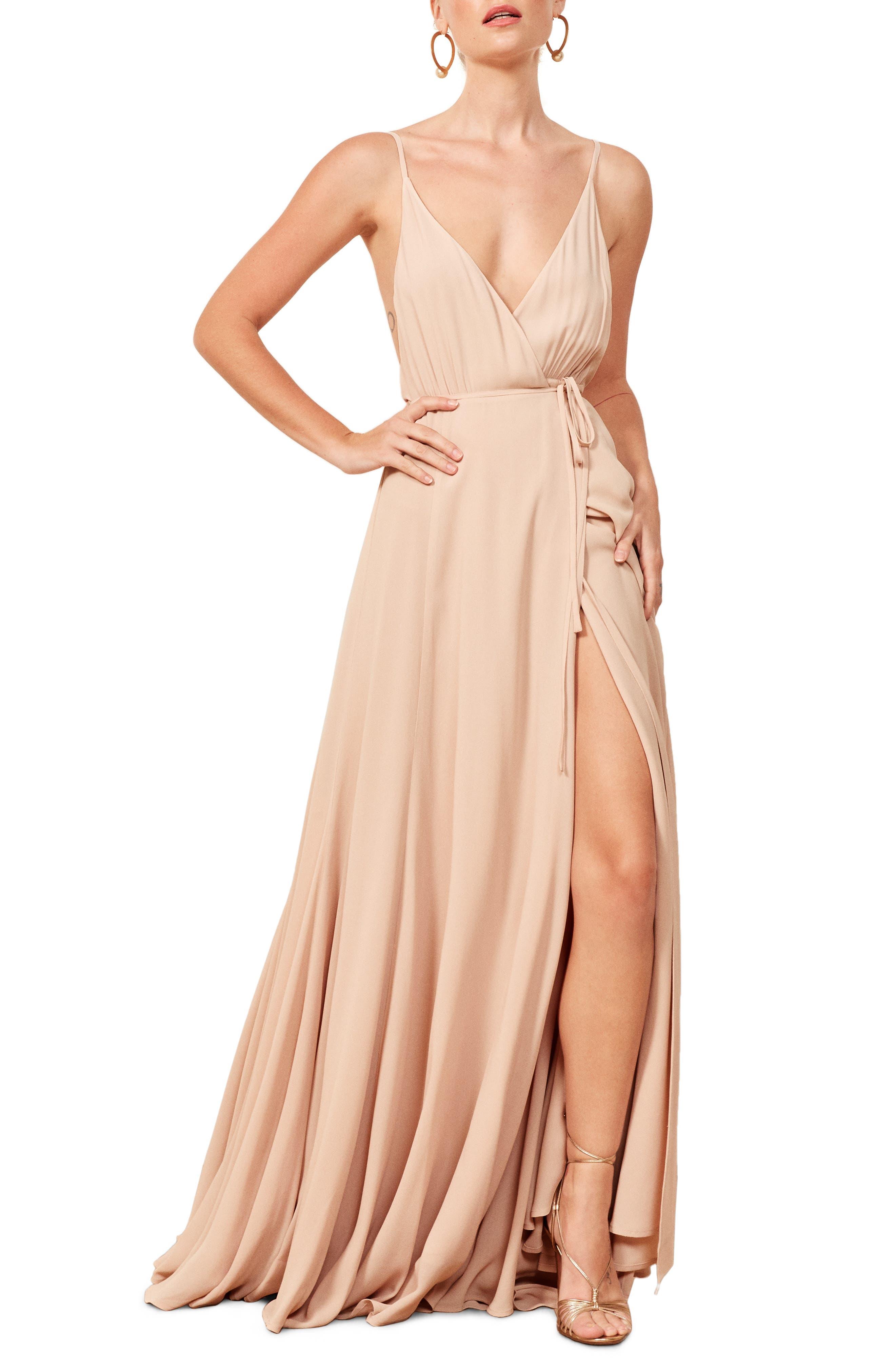 Calalilly Maxi Dress,                             Main thumbnail 1, color,                             CHAMPAGNE