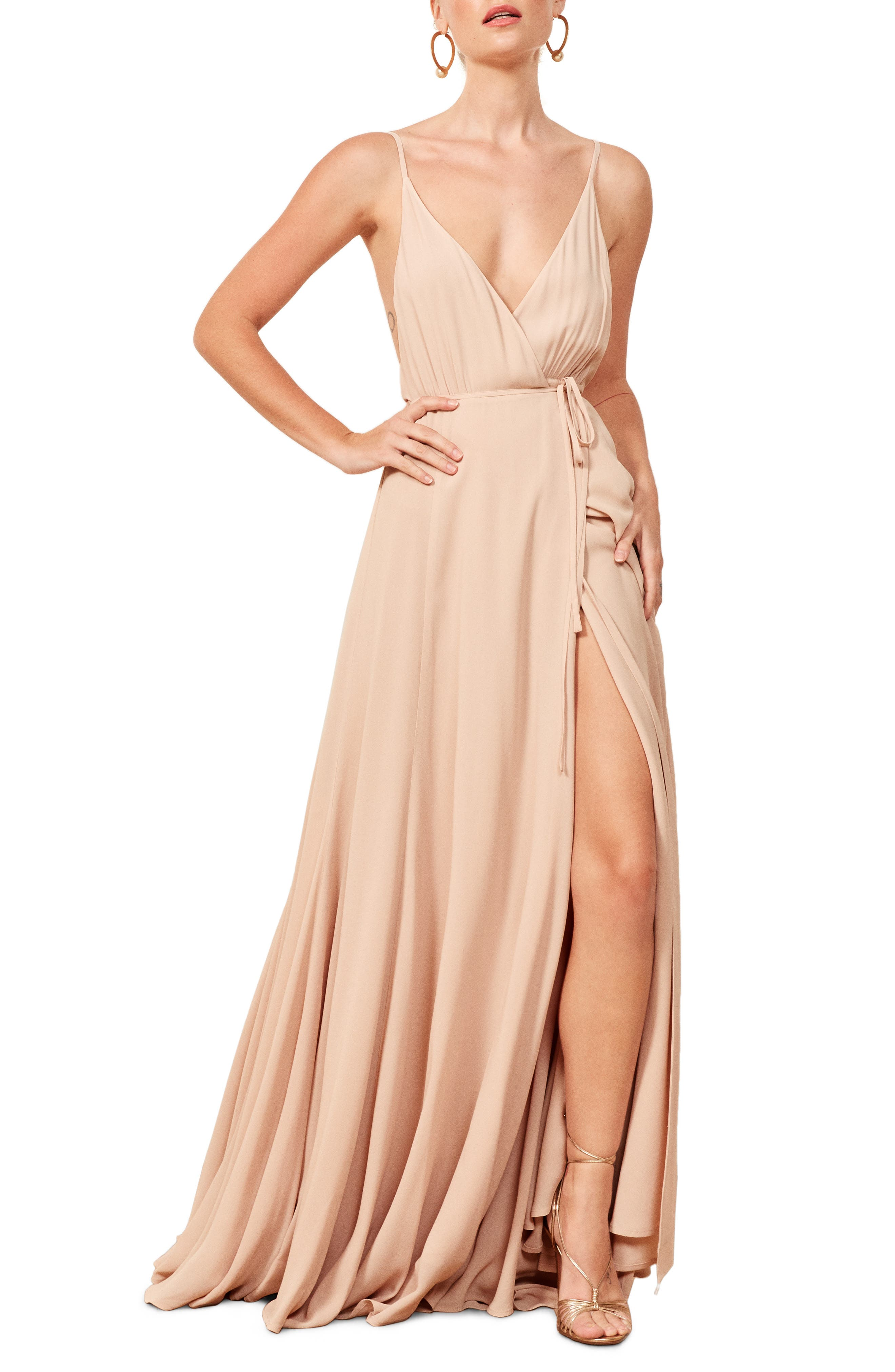 Calalilly Maxi Dress,                         Main,                         color, CHAMPAGNE