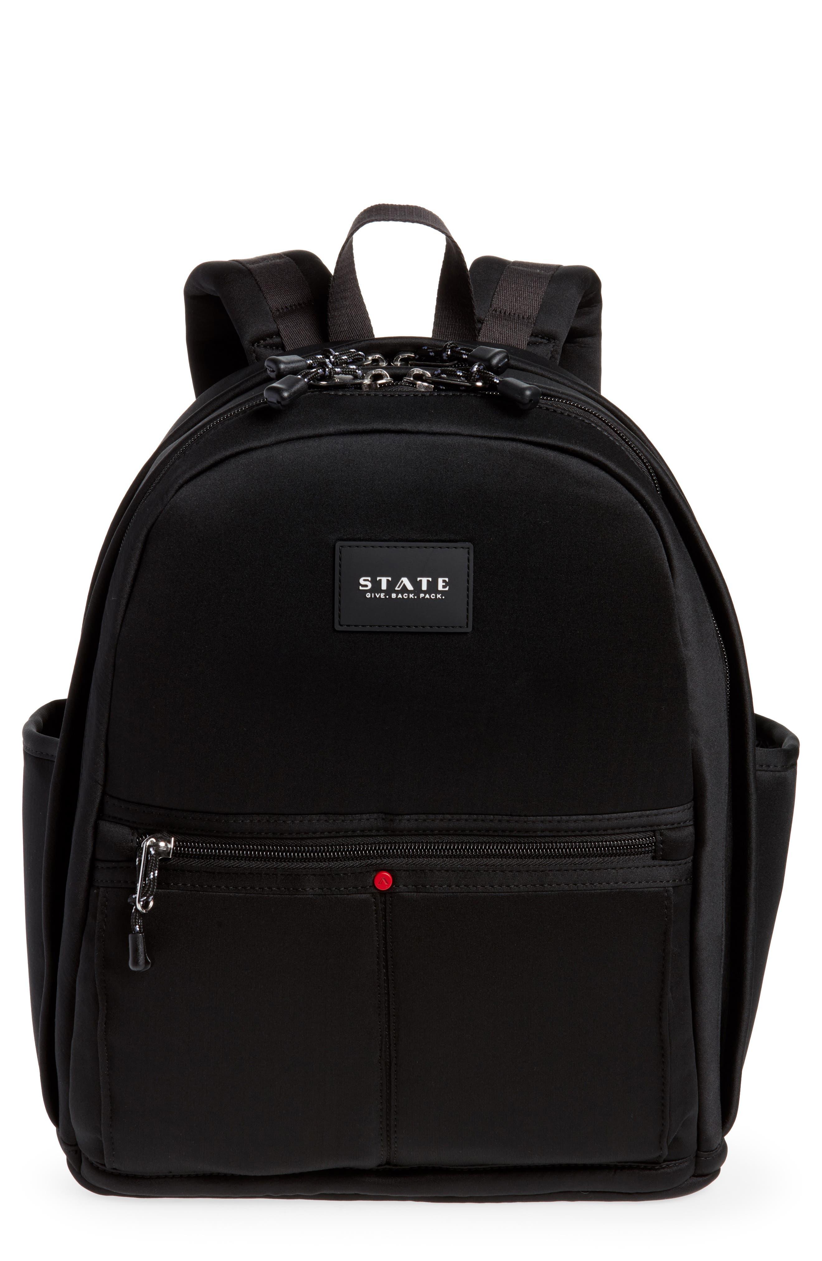 Bedford Neoprene Backpack,                         Main,                         color, BLACK