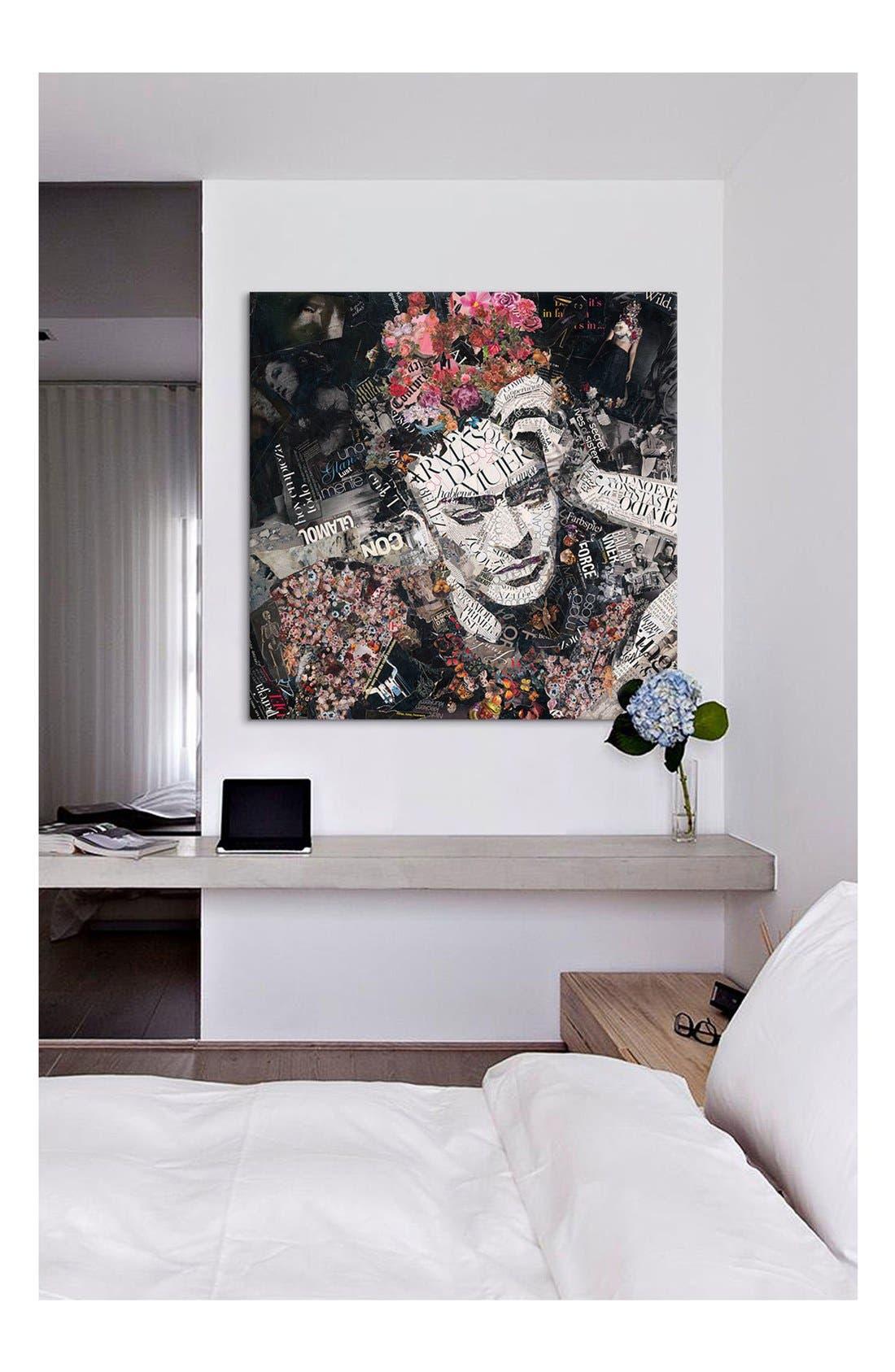 'Armas de Mujer - Ines Kouidis' Giclée Print Canvas Art,                             Alternate thumbnail 2, color,                             BLACK/ WHITE/ PINK