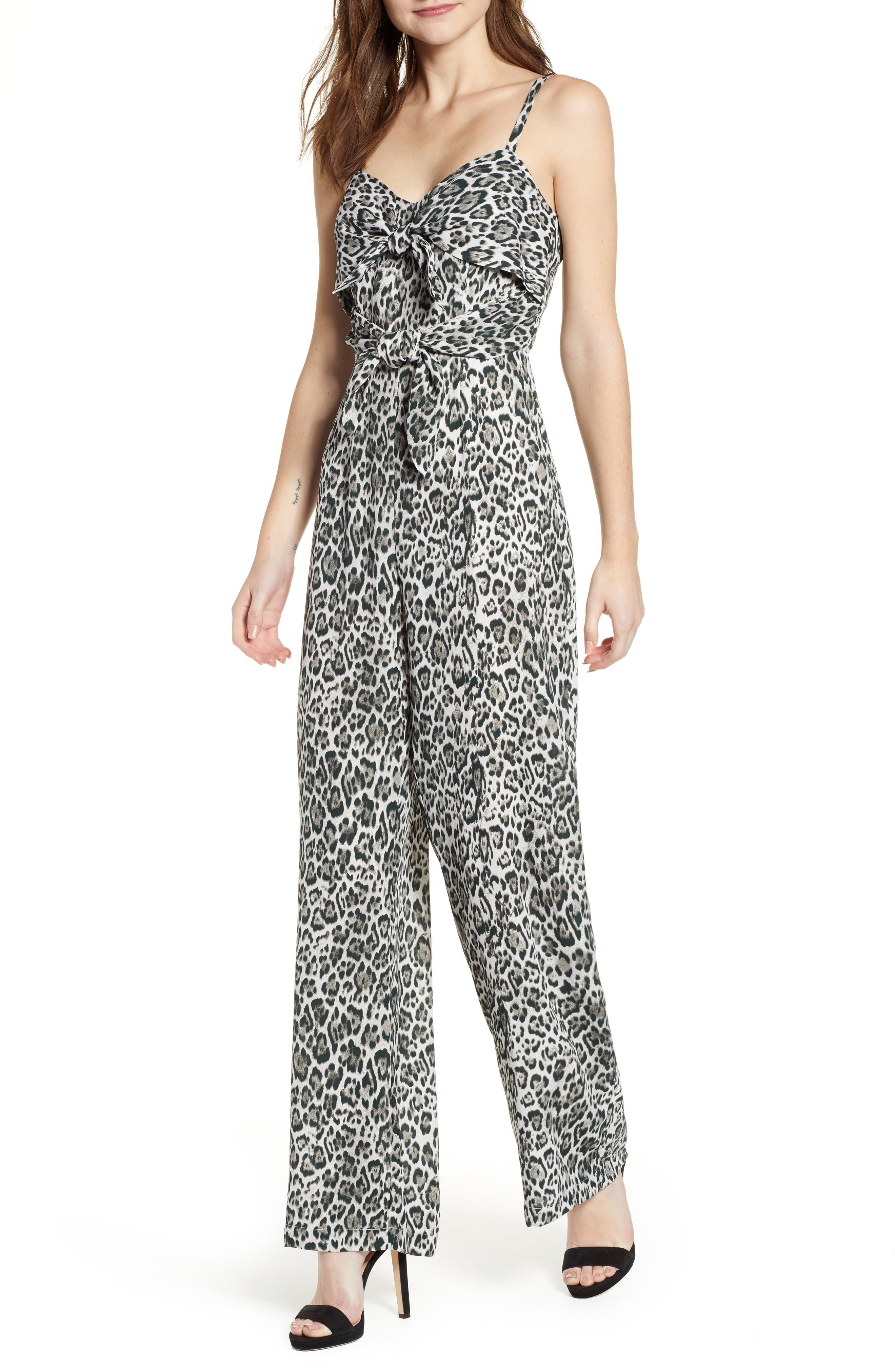 Tie Front Jumpsuit by Socialite