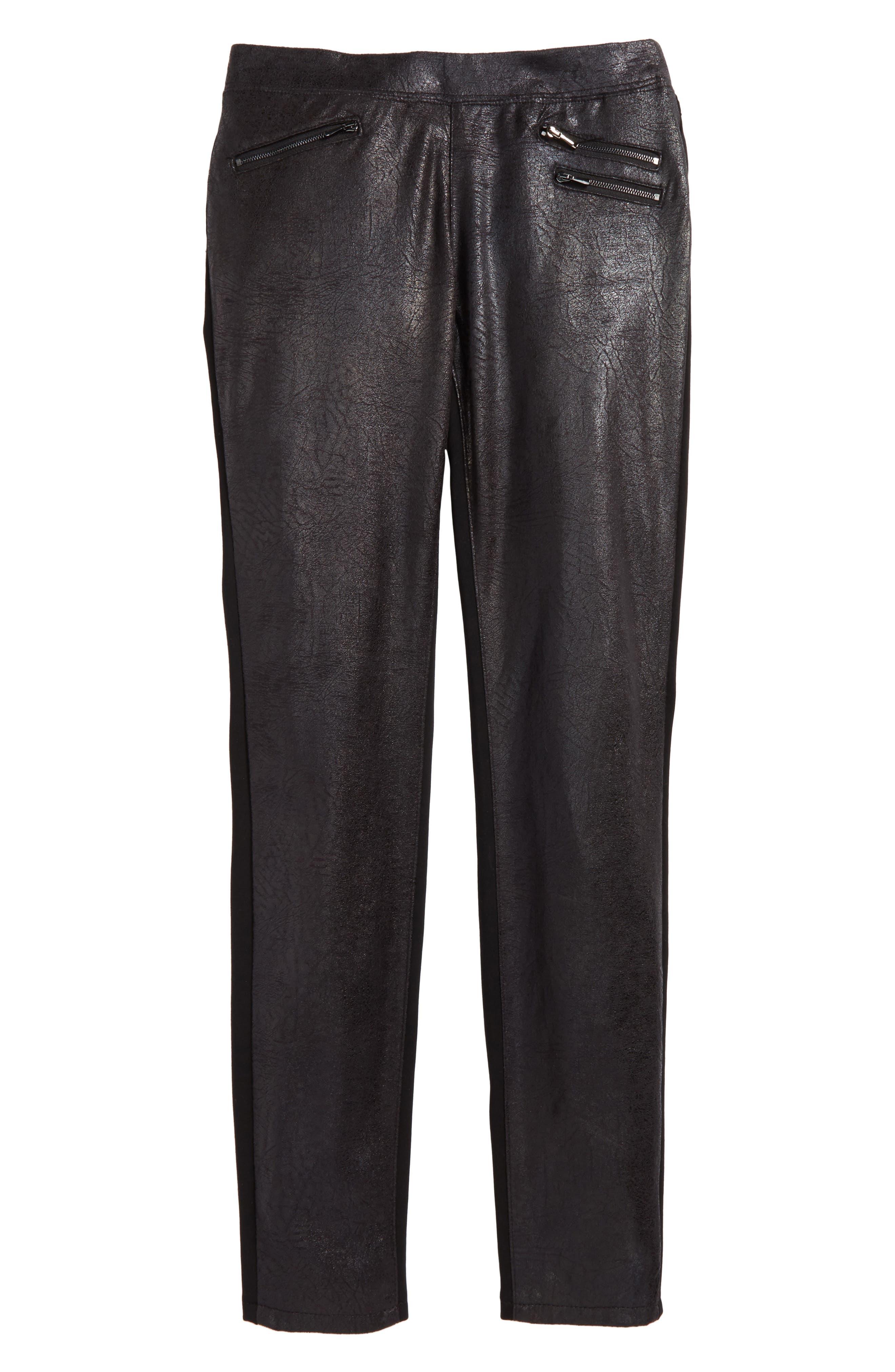 Girls Tractr Crackle PullOn Pants Size 14  Black