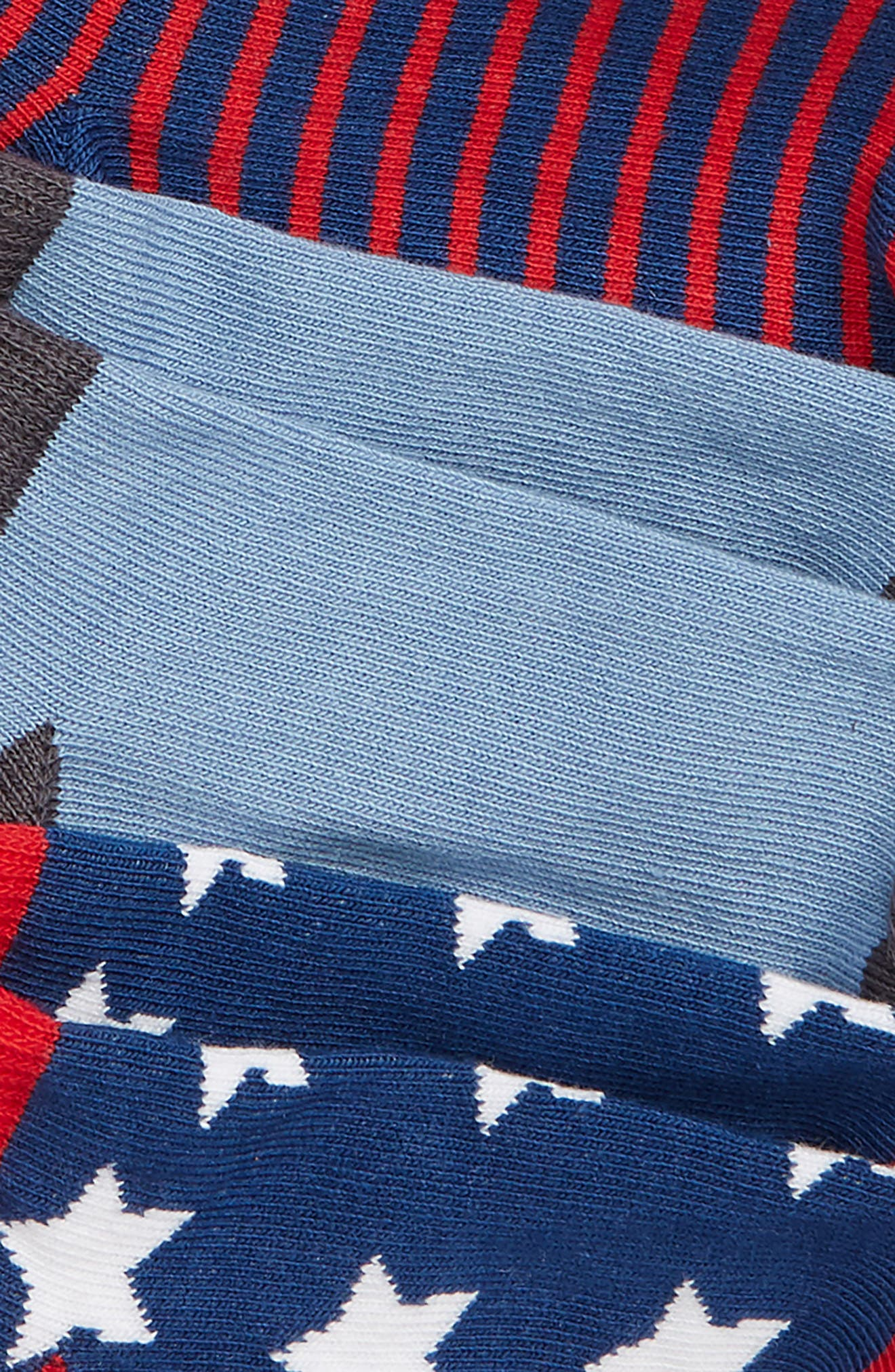 6-Pack Stars and Stripes Low Cut Socks,                             Alternate thumbnail 2, color,                             NAVY DENIM MULTI