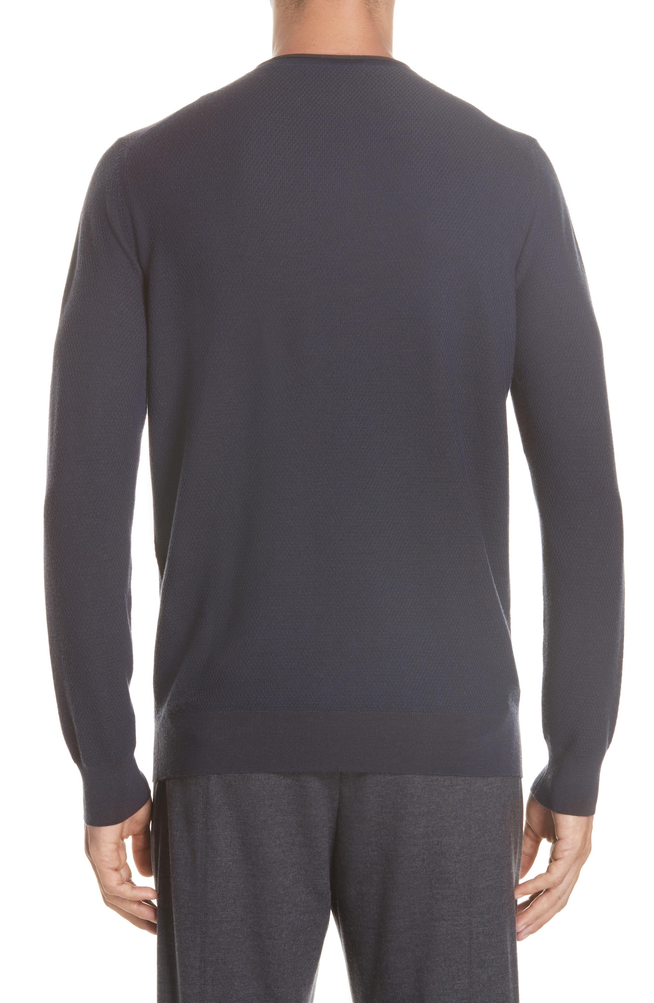 Crewneck Wool Sweater,                             Alternate thumbnail 2, color,                             NAVY
