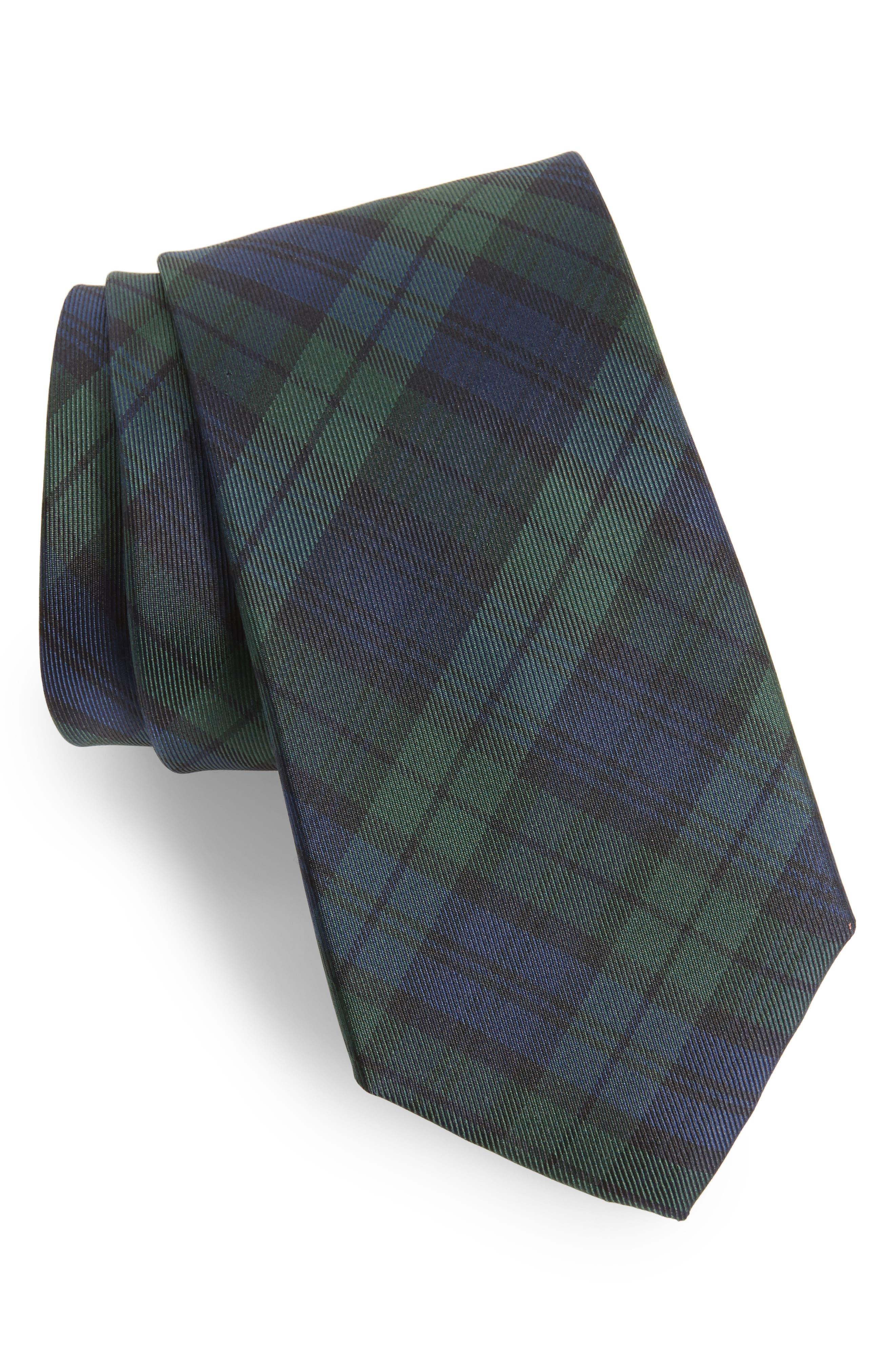 Plaid Silk Tie,                         Main,                         color, 001