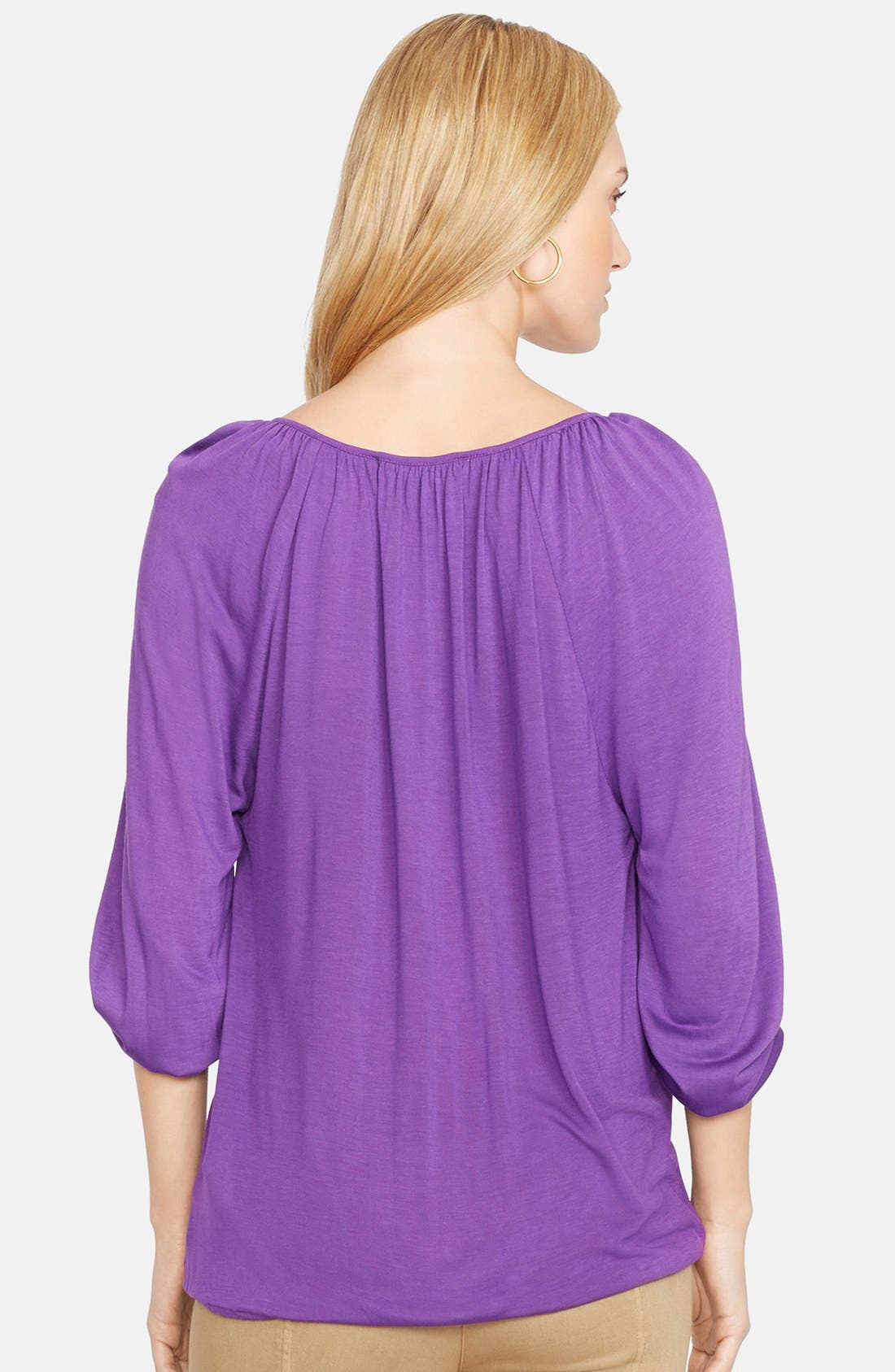 Jersey Peasant Top,                             Alternate thumbnail 2, color,                             500