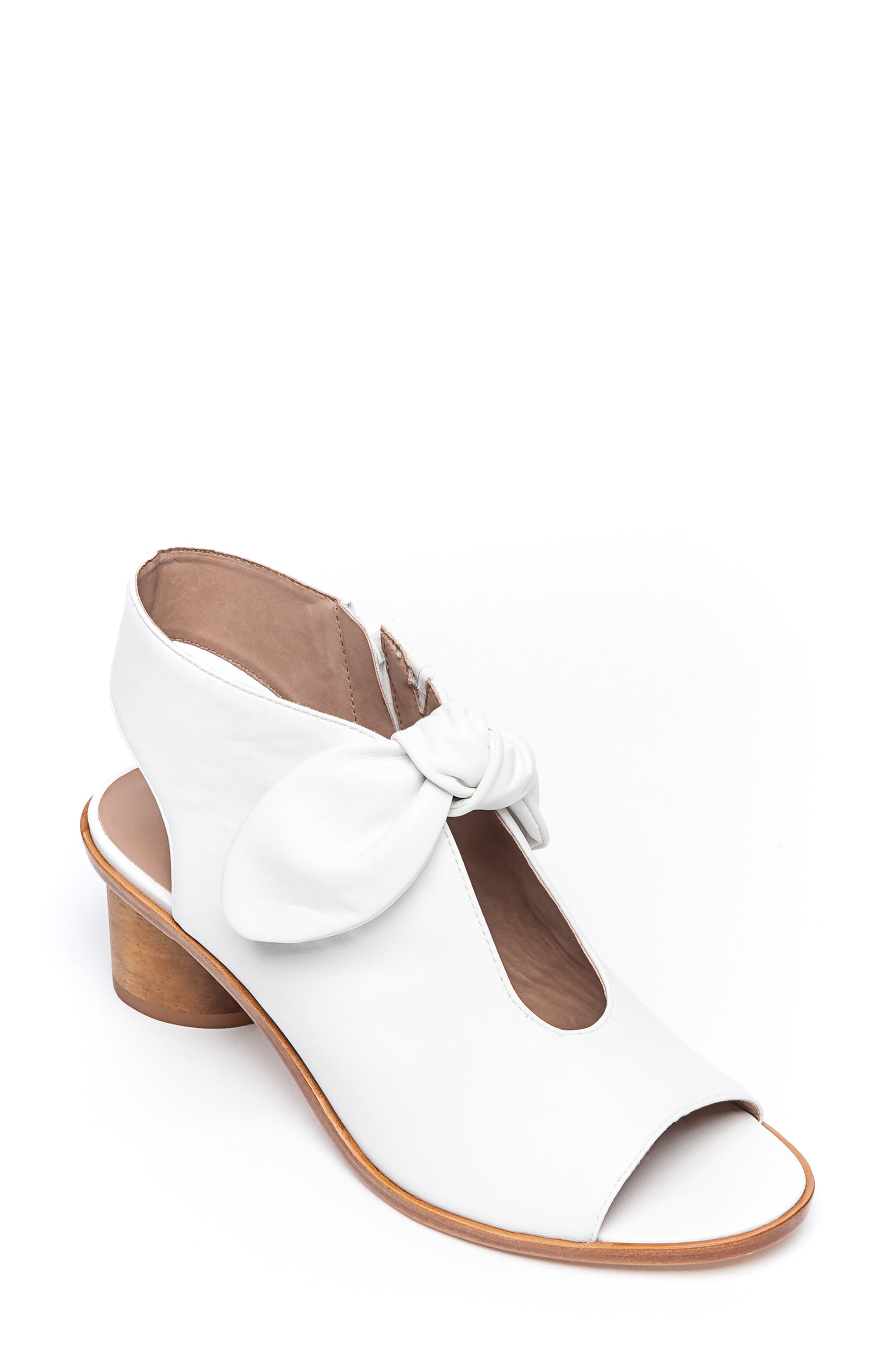 Bernardo Luna Sandal,                             Main thumbnail 1, color,                             WHITE LEATHER
